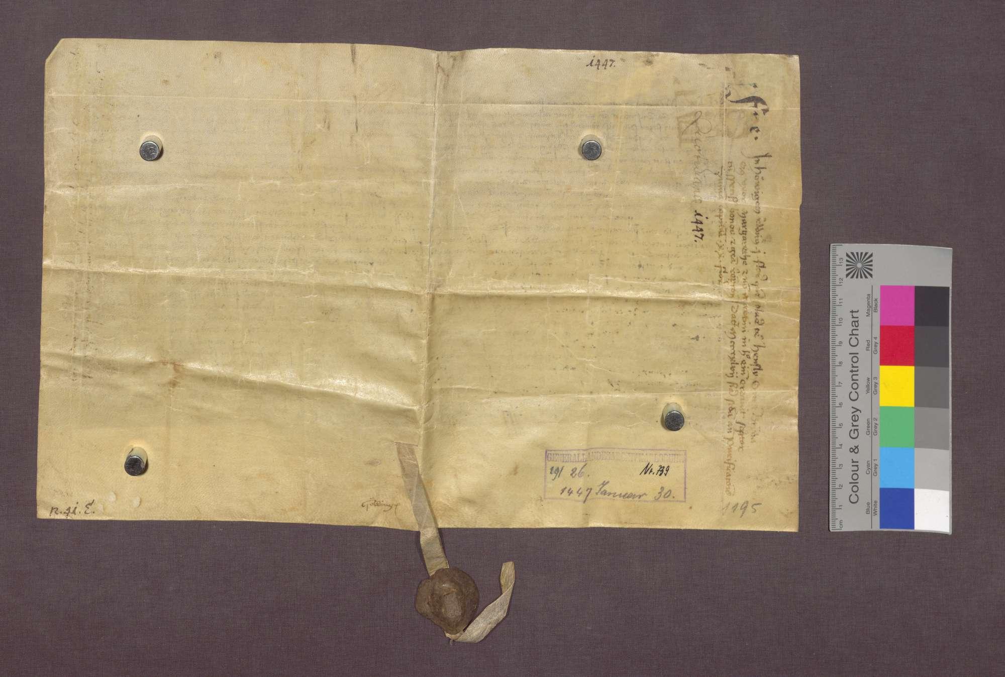 Gültverschreibung des Henslin Om von Hauingen und seiner Frau gegenüber dem Domkapitel zu Basel., Bild 2