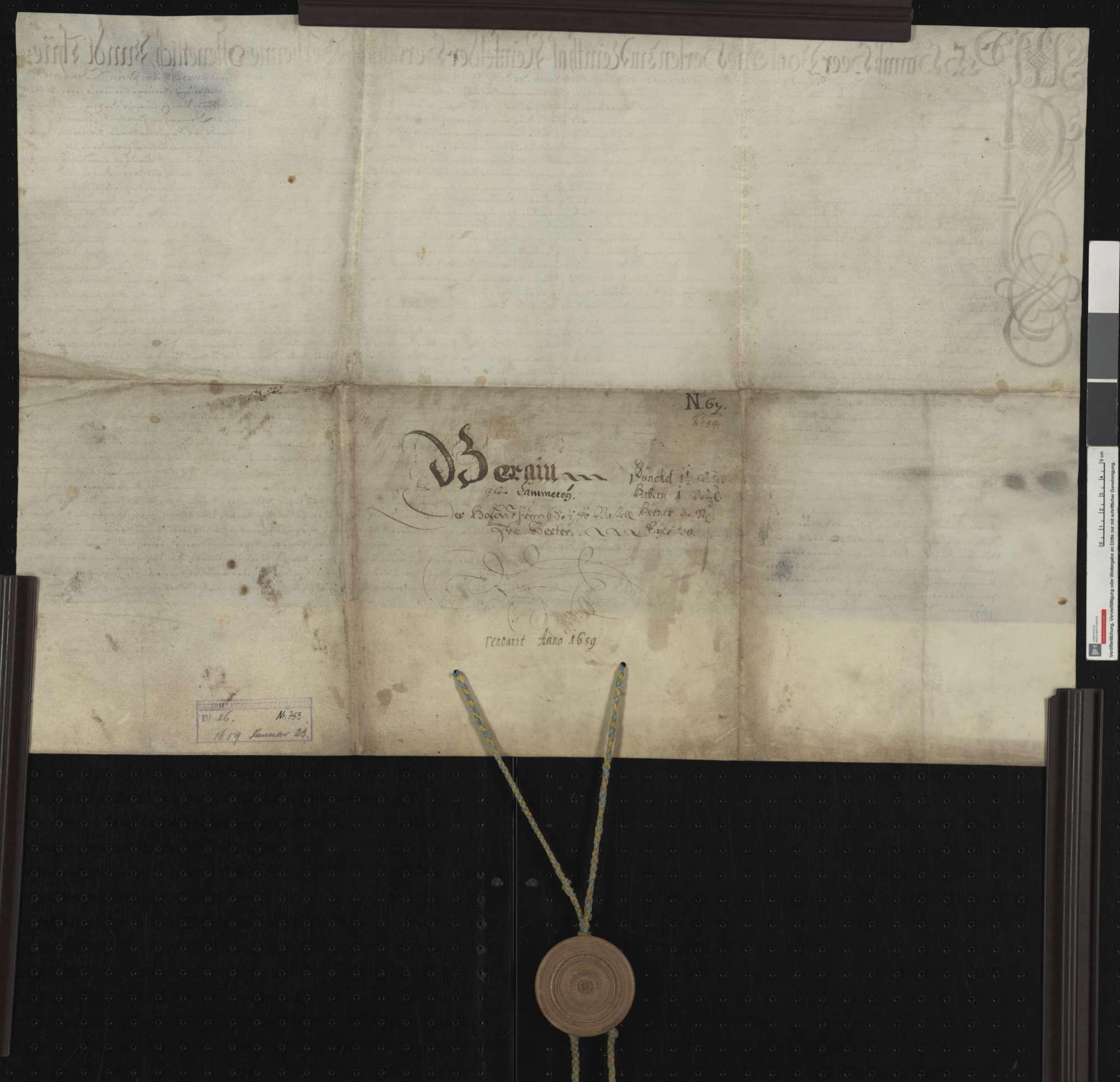 Berainbrief über die Güter der Kämmerei des Domstifts Basel im Dorf Herten, ausgestellt von Vogt und Gericht zu Herten., Bild 2