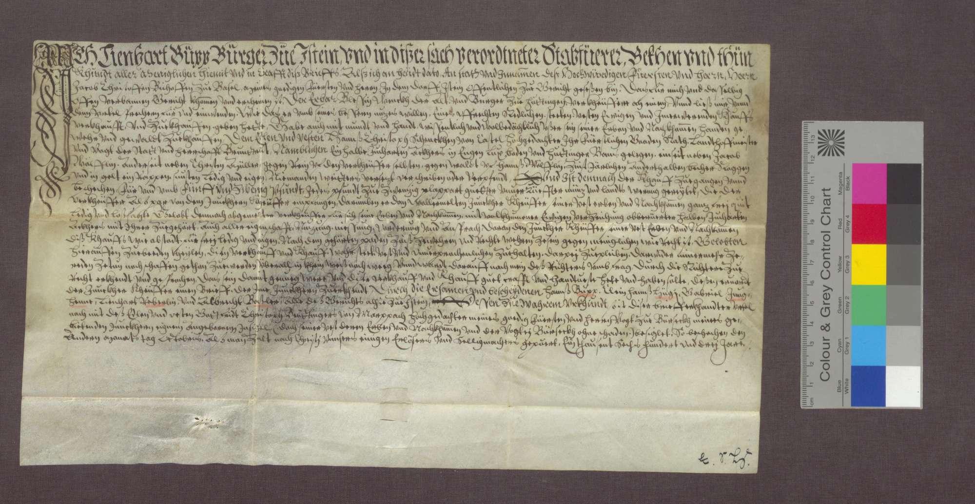 Blessin Wenk d. A. verkauft einen Acker an Hans Christoph Schenk von Castell., Bild 2