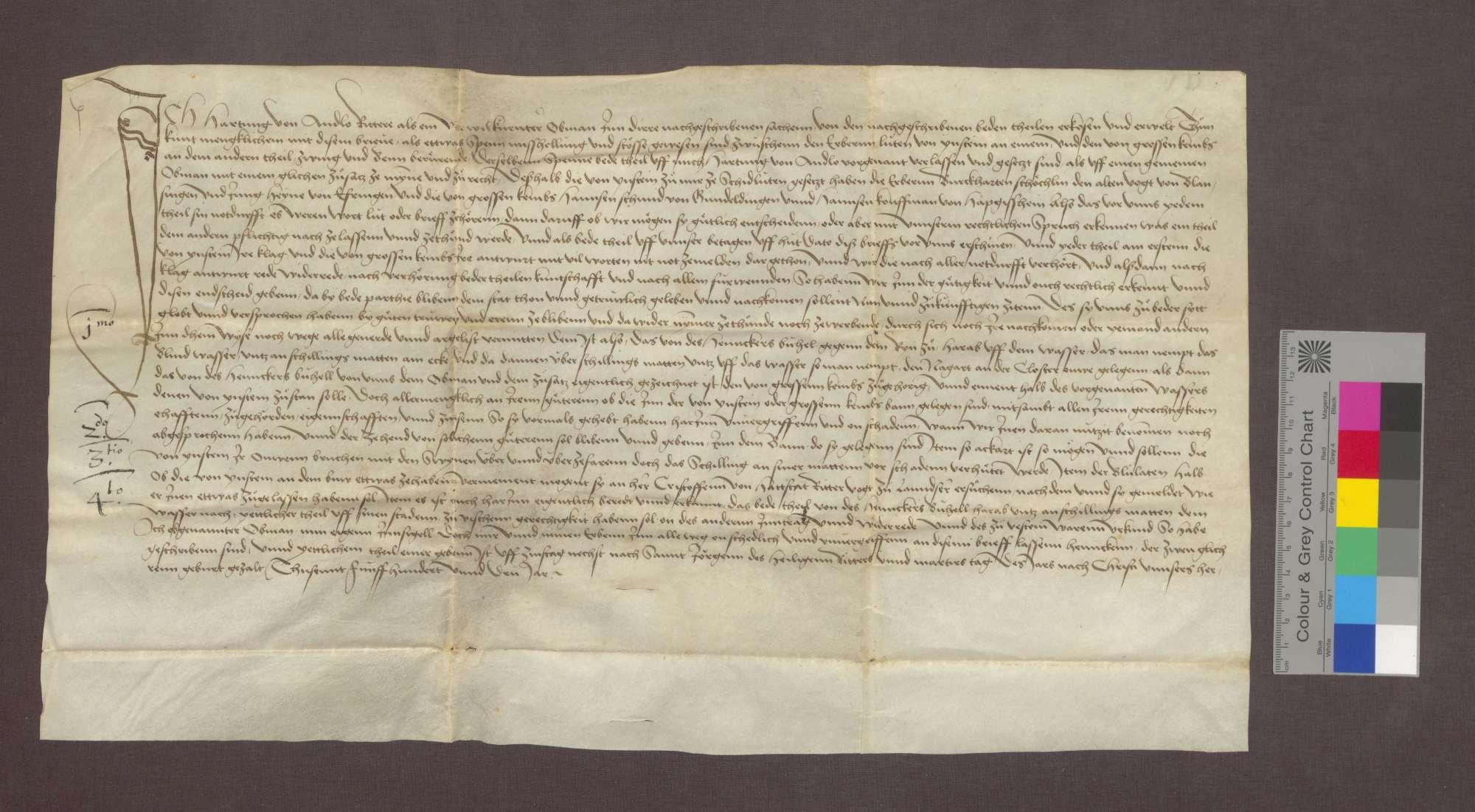 Vertrag zwischen den Gemeinden Istein und Großkembs über die Banngrenzen., Bild 1