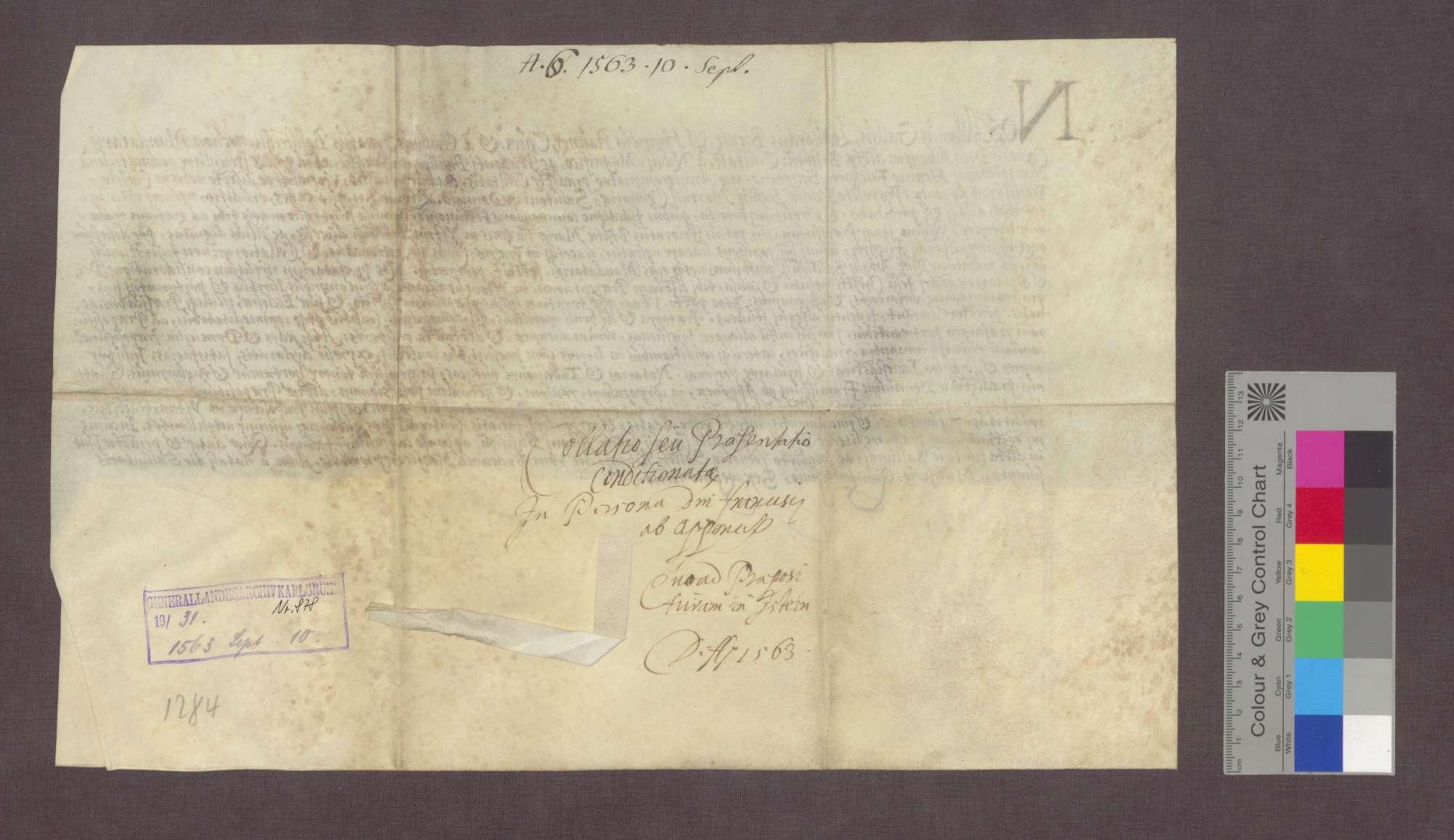 Der Rat von Basel überträgt dem Franz von Apponez das Priorat in Istein., Bild 2