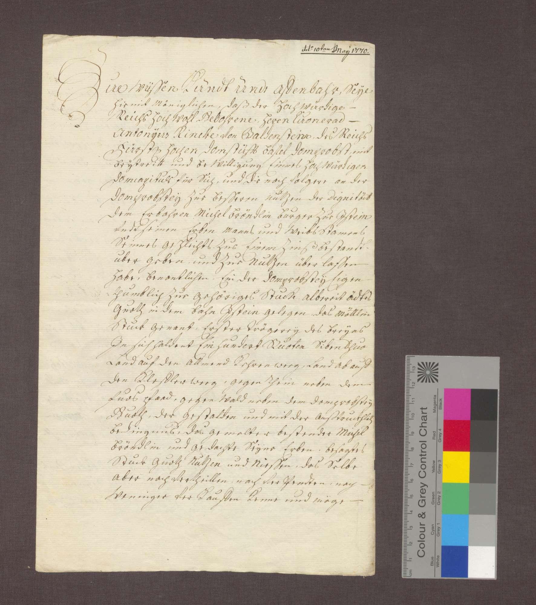 Die Basler Dompropstei überlässt dem Michel Brändlin zu Istein ein ödes Gut gegen eine Gült., Bild 1