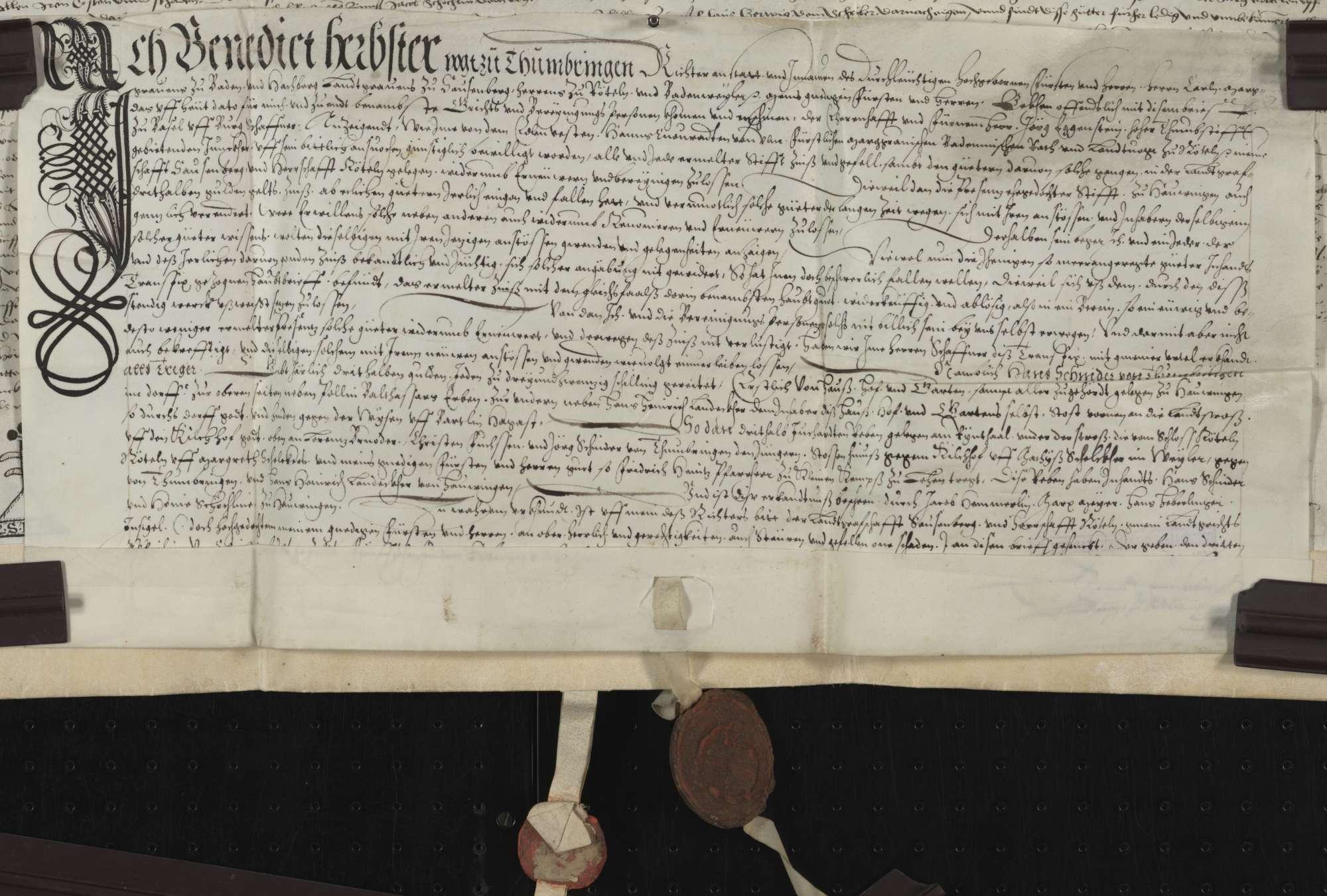 Berain über Güter des Clewi Bruder zu Hauingen., Bild 1