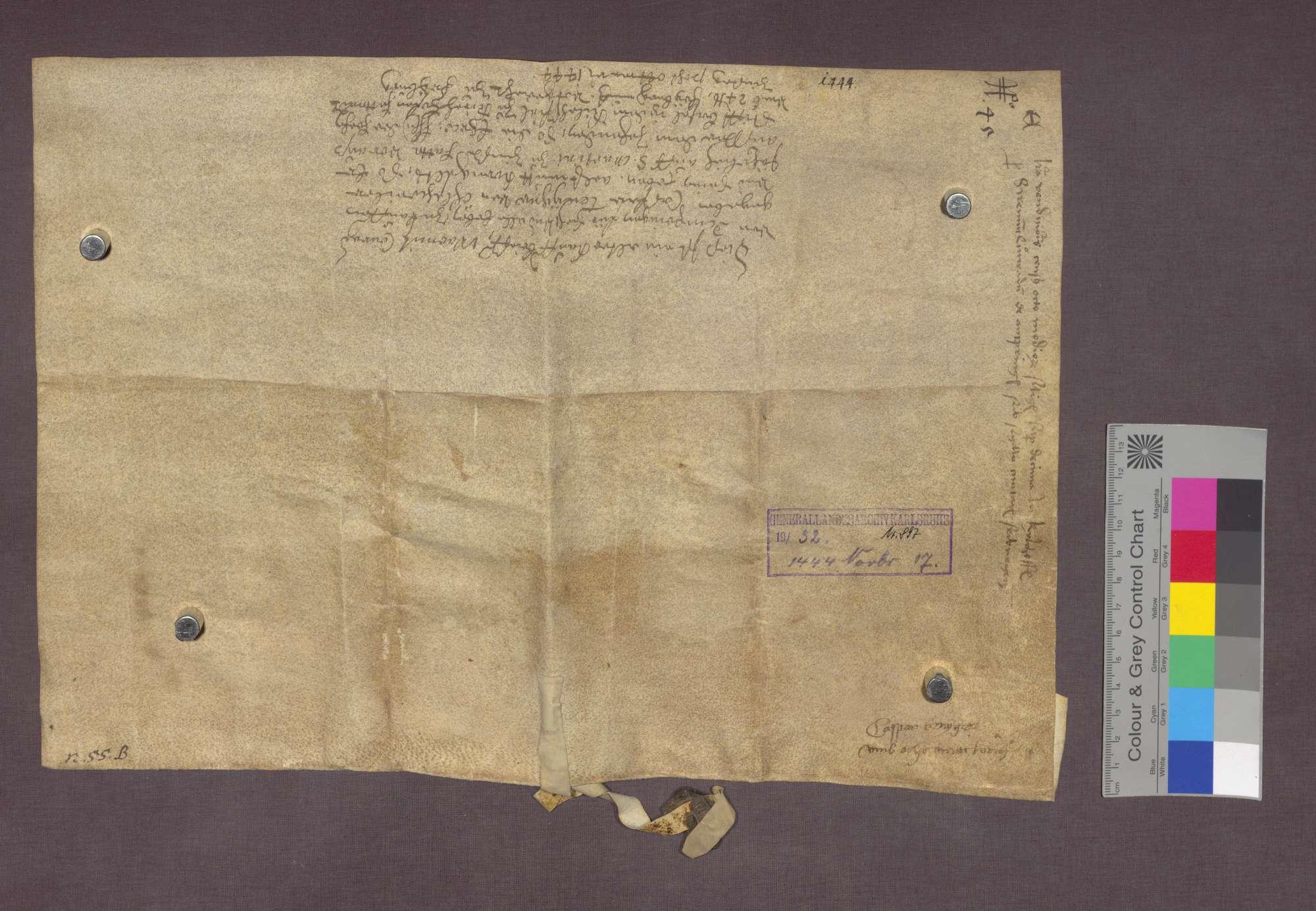 Konrad von Ambringen verkauft an Kaspar Fengger von Öhlinsweiler eine Korngült zu Kirchhofen., Bild 2