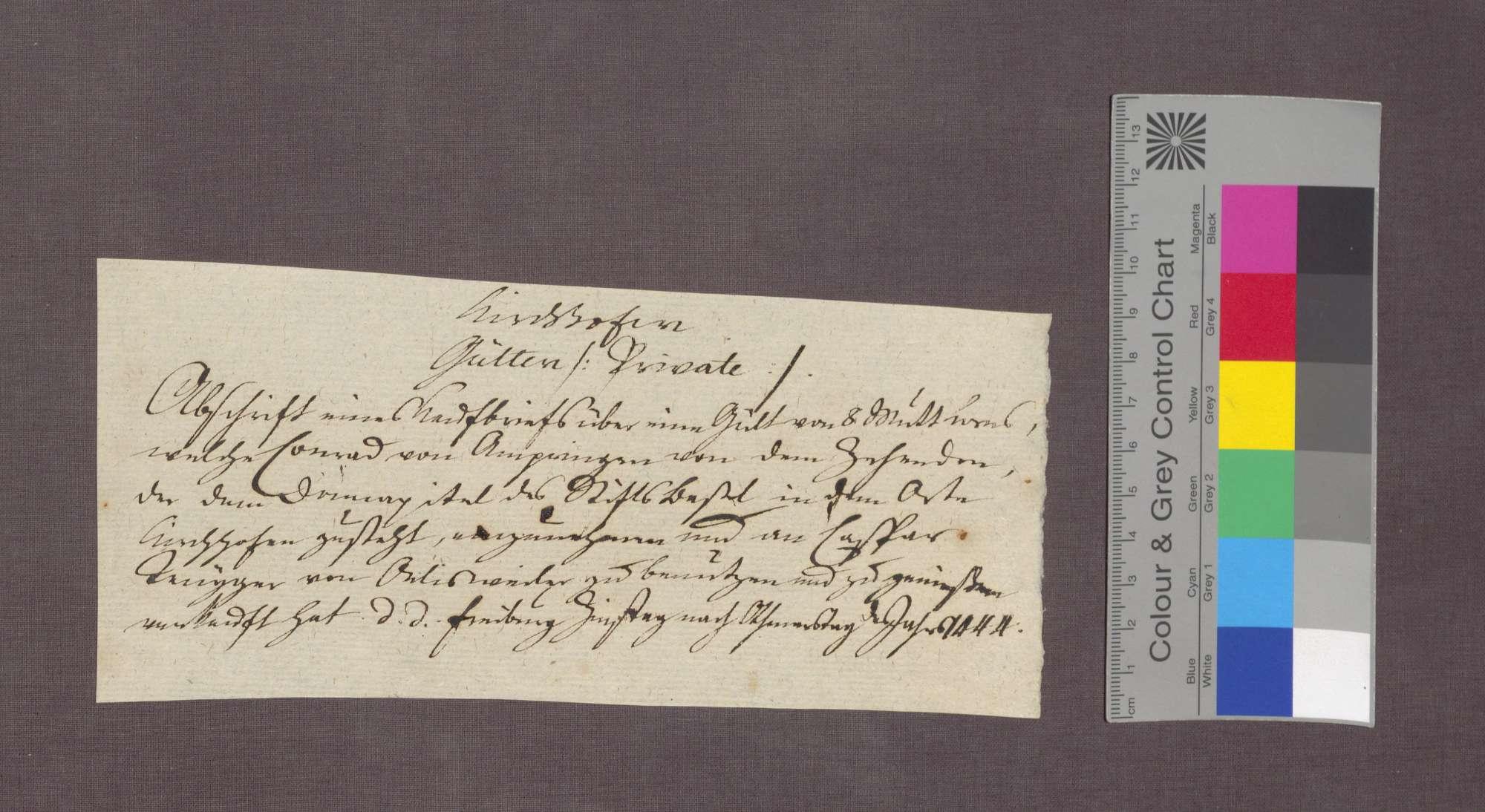 Konrad von Ambringen verkauft an Kaspar Fengger von Öhlinsweiler eine Korngült zu Kirchhofen., Bild 3