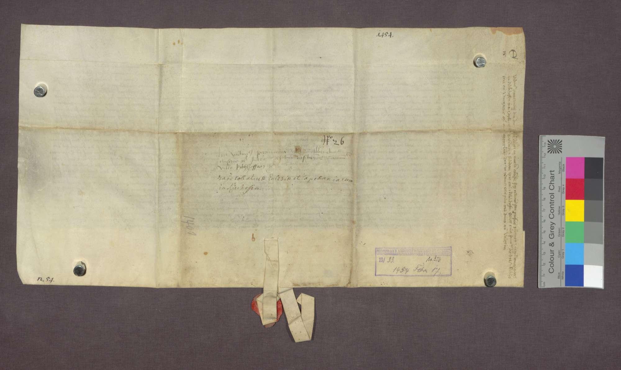 Vidimus der Entscheidung Erzherzog Albrechts von Österreich von 1454 Januar 29., Bild 2