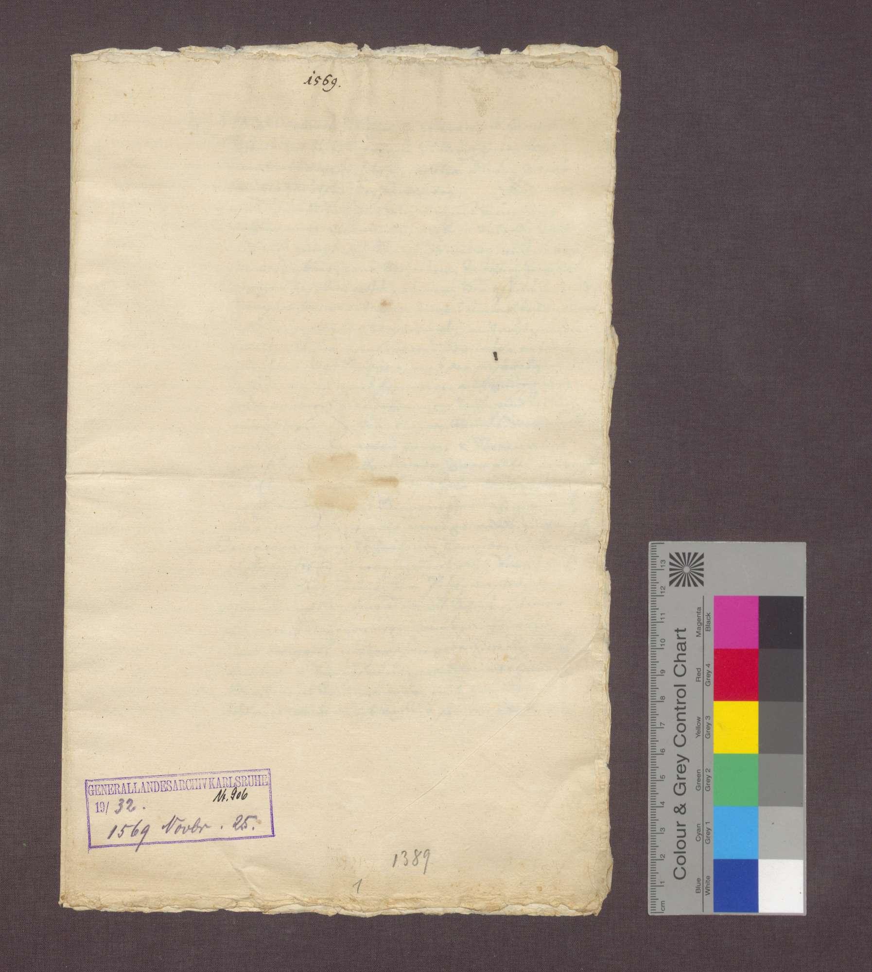 Die Vögte der Elisabeth Joler zu Kirchhofen verkaufen an Paulus Peter einen halben Gras- und Baumgarten., Bild 1