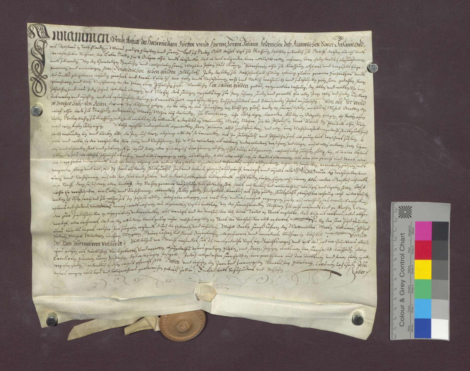 Schuldverschreibung des Gäclin Faist zu Kirchhofen gegenüber der Pfarrei daselbst., Bild 1