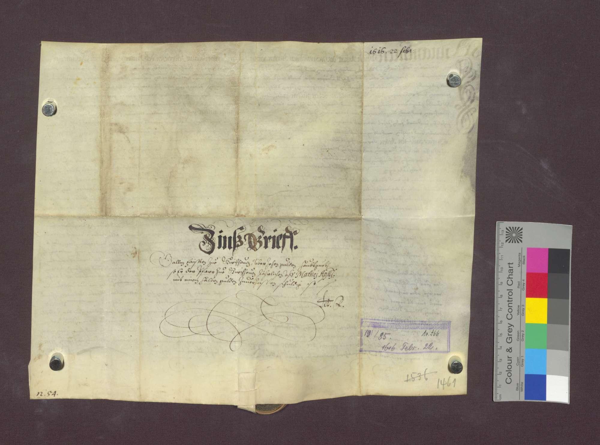 Schuldverschreibung des Gäclin Faist zu Kirchhofen gegenüber der Pfarrei daselbst., Bild 2