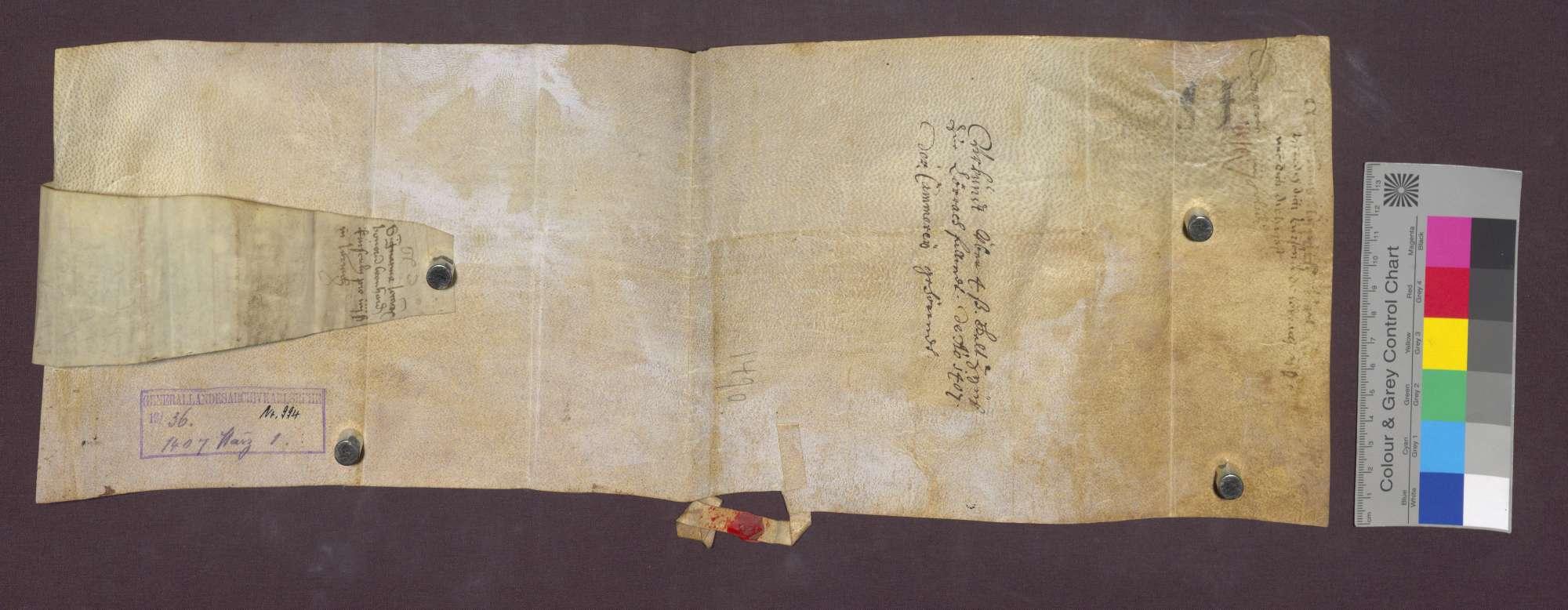 Lehnbrief der Basler Bruderschaft der St. Johannes-Kapelle für Heinz Kürsenlin in Lörrach., Bild 3
