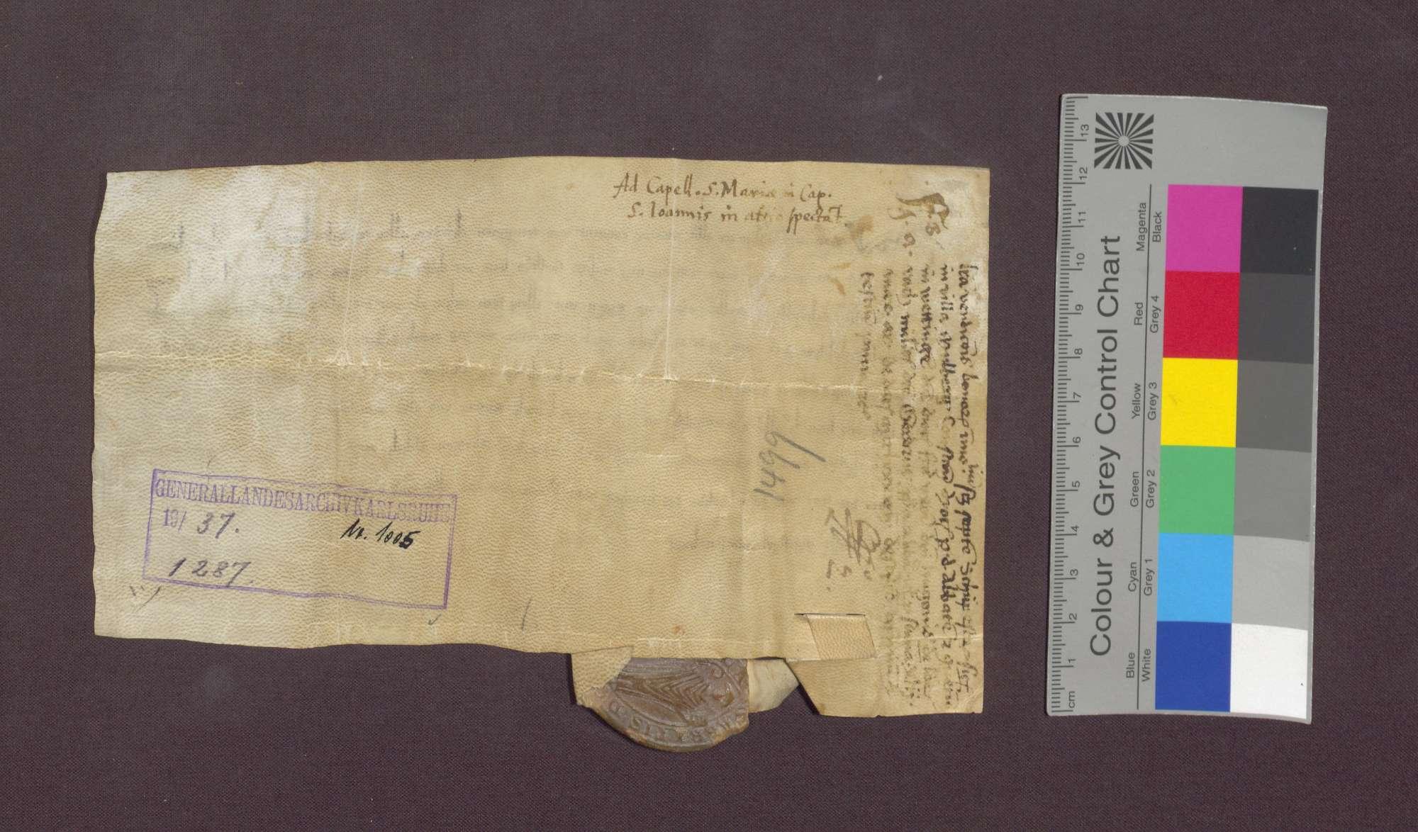 Das Kloster Wettingen verkauft 7 Schupposen in Maulburg an Gertrud, Ehefrau des Hug Vrowin von Lörrach., Bild 3