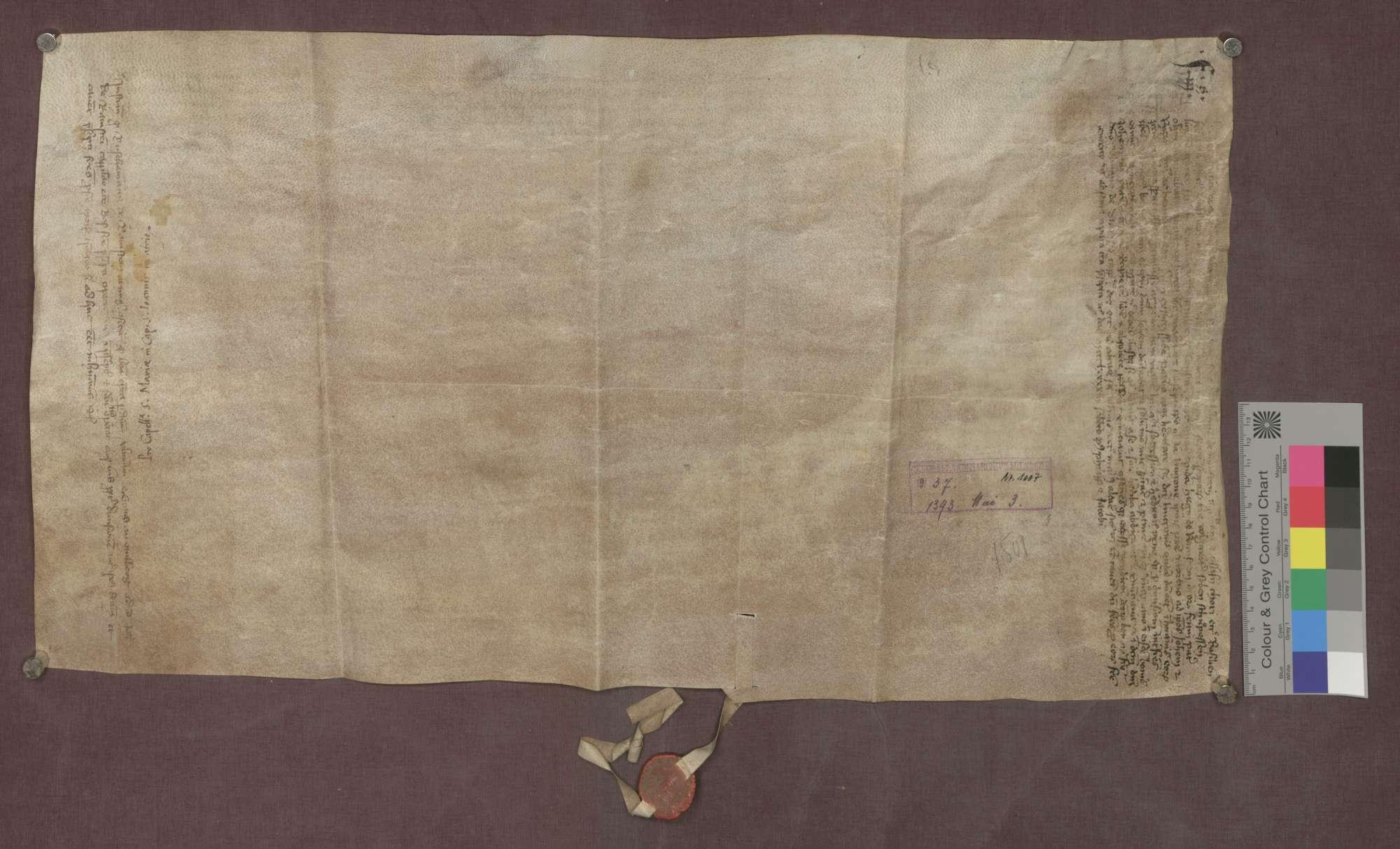 Johannes und Rutschmann von Ramstein verkaufen 7 Schupposen in Maulburg an Ulmann von Stans, Kaplan des Johannes-Baptist-Altars im Basler Münster., Bild 2