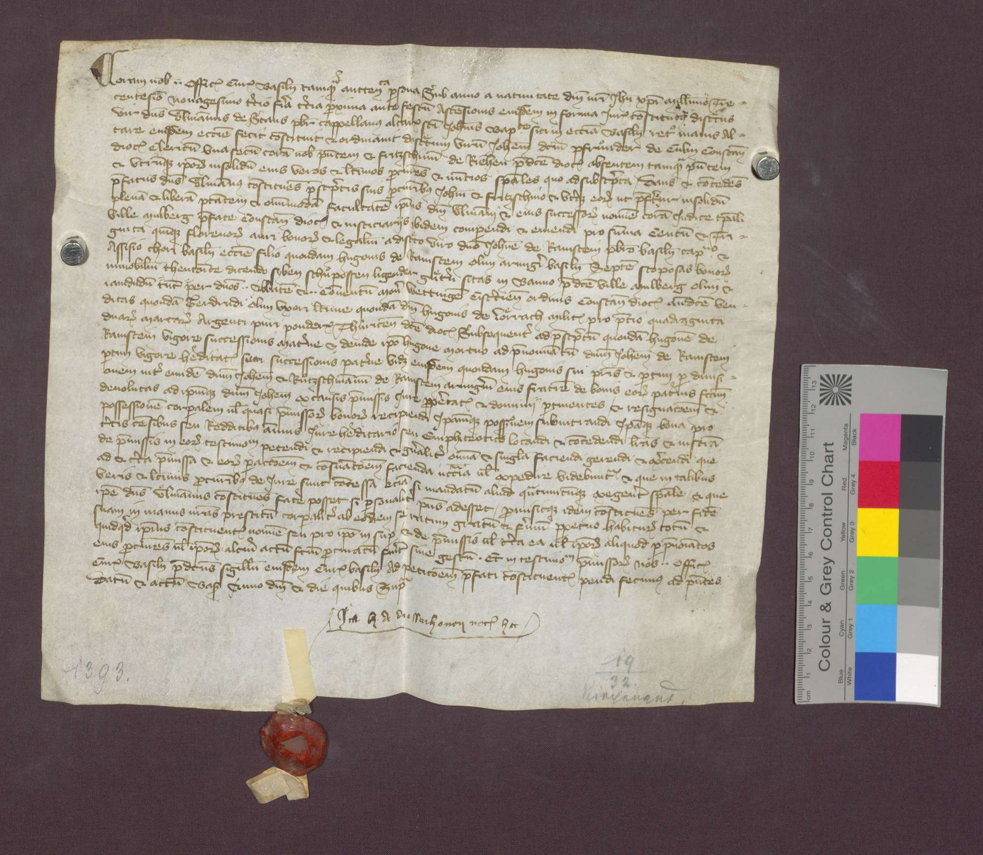 Ulmann von Stans beauftragt Johannes von Ramstein, 7 Schupposen in Maulburg für sich, den Inhaber des Johannes-Baptist-Altars in Basel, zu kaufen., Bild 2