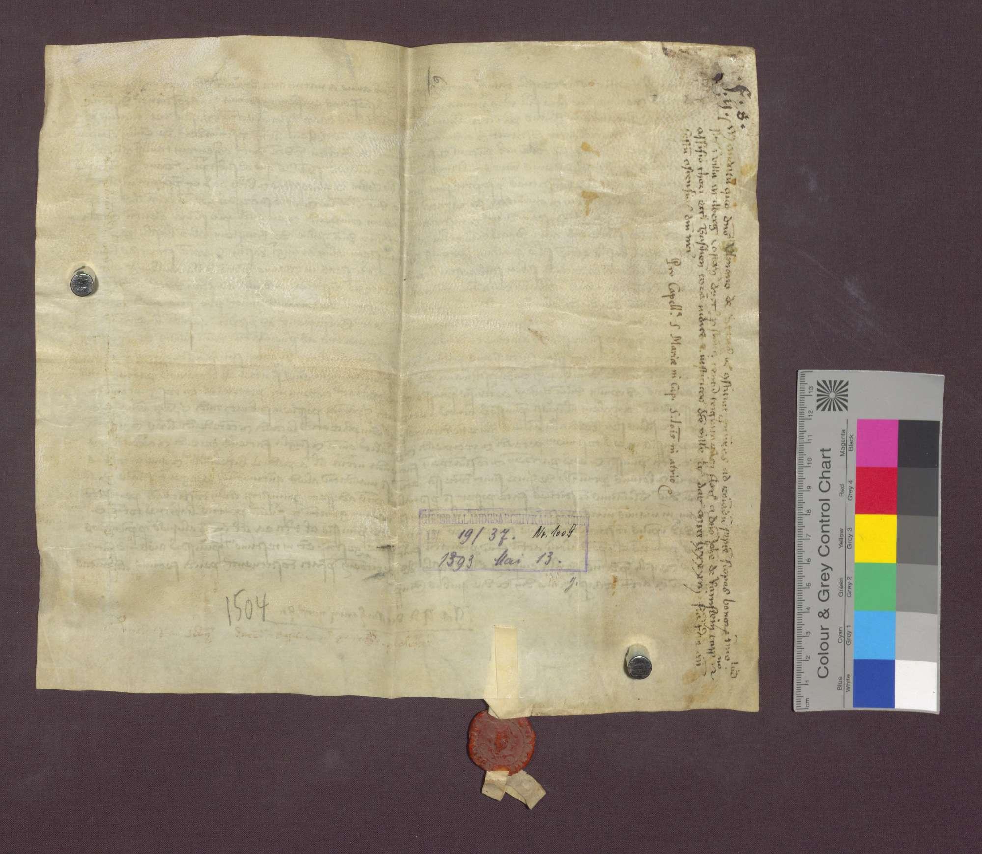 Ulmann von Stans beauftragt Johannes von Ramstein, 7 Schupposen in Maulburg für sich, den Inhaber des Johannes-Baptist-Altars in Basel, zu kaufen., Bild 3