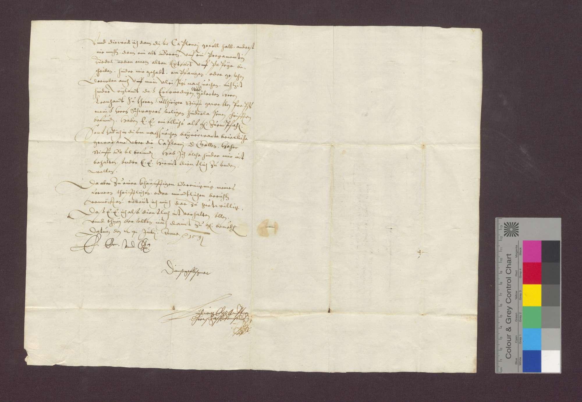 Schreiben wegen Einziehung von Gefällen des Basler Domkapitels, damals in Freiburg, zu Maulburg im Wiesental., Bild 2