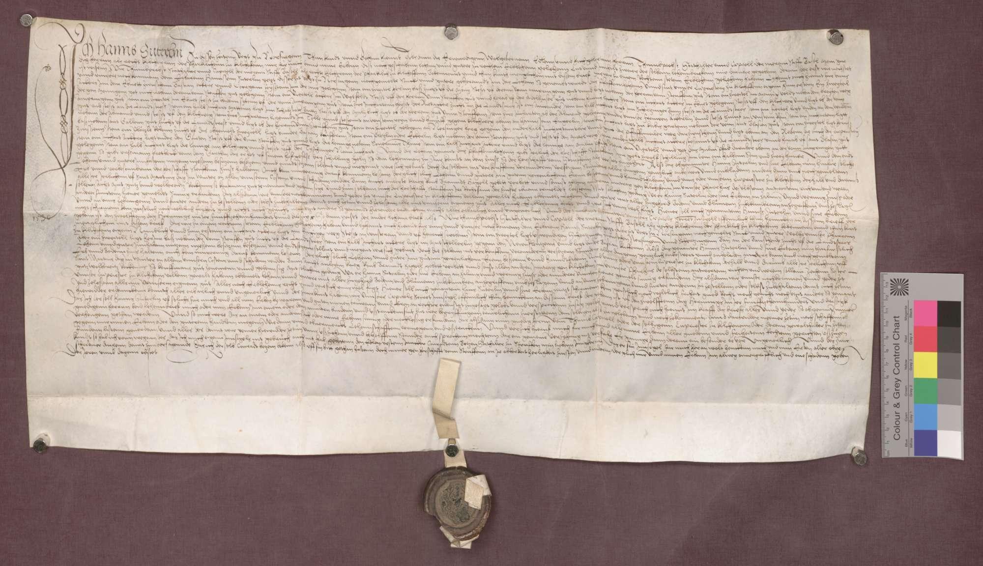 Revers des Hans Suterlin, Vogts zu Norsingen., Bild 1