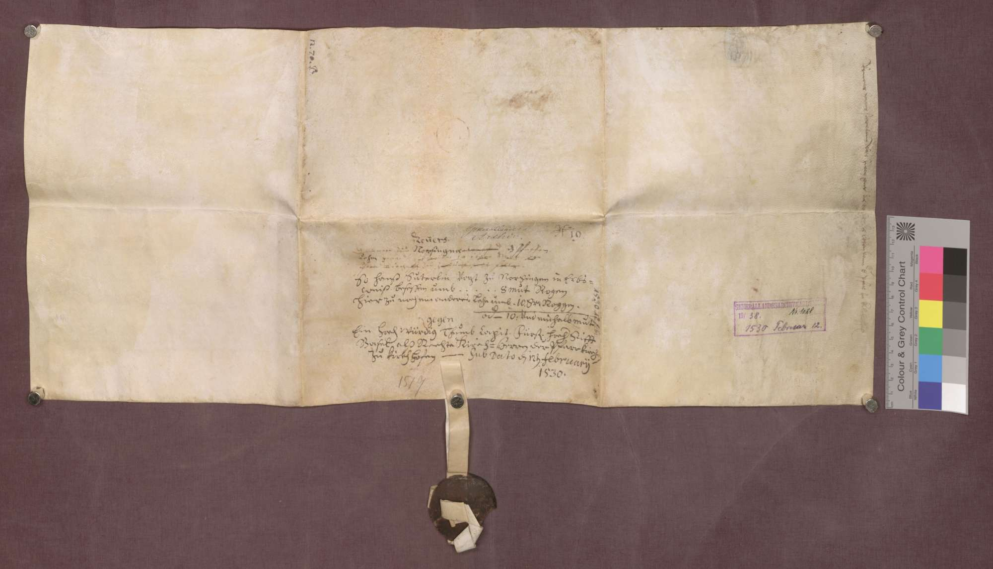 Revers des Hans Suterlin, Vogts zu Norsingen., Bild 2
