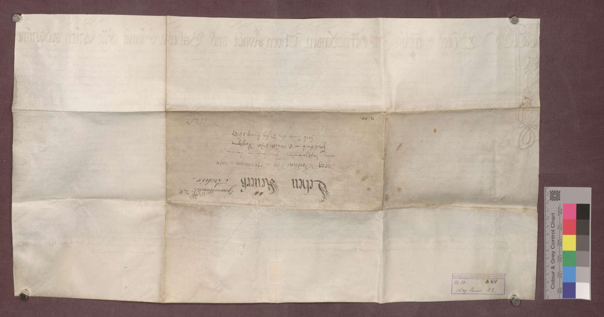 Lehnrevers des Georg Bridlin von Offnadingen gegenüber dem Basler Domkapitel über Güter im Norsinger Bann., Bild 2