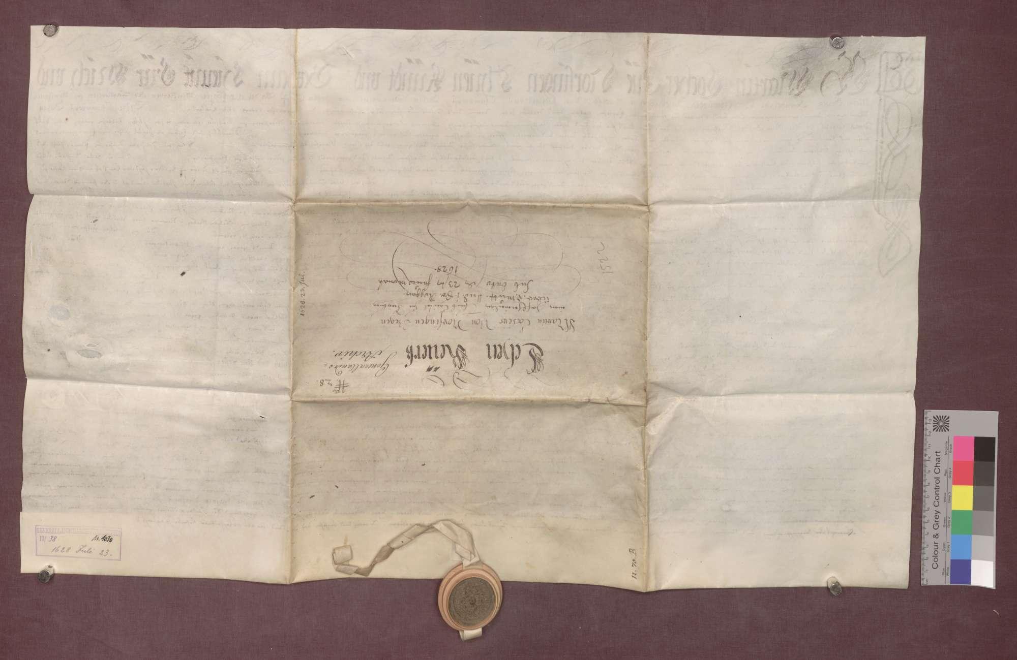 Lehnrevers des Martin Locher von Norsingen gegenüber dem Basler Domkapitel., Bild 2