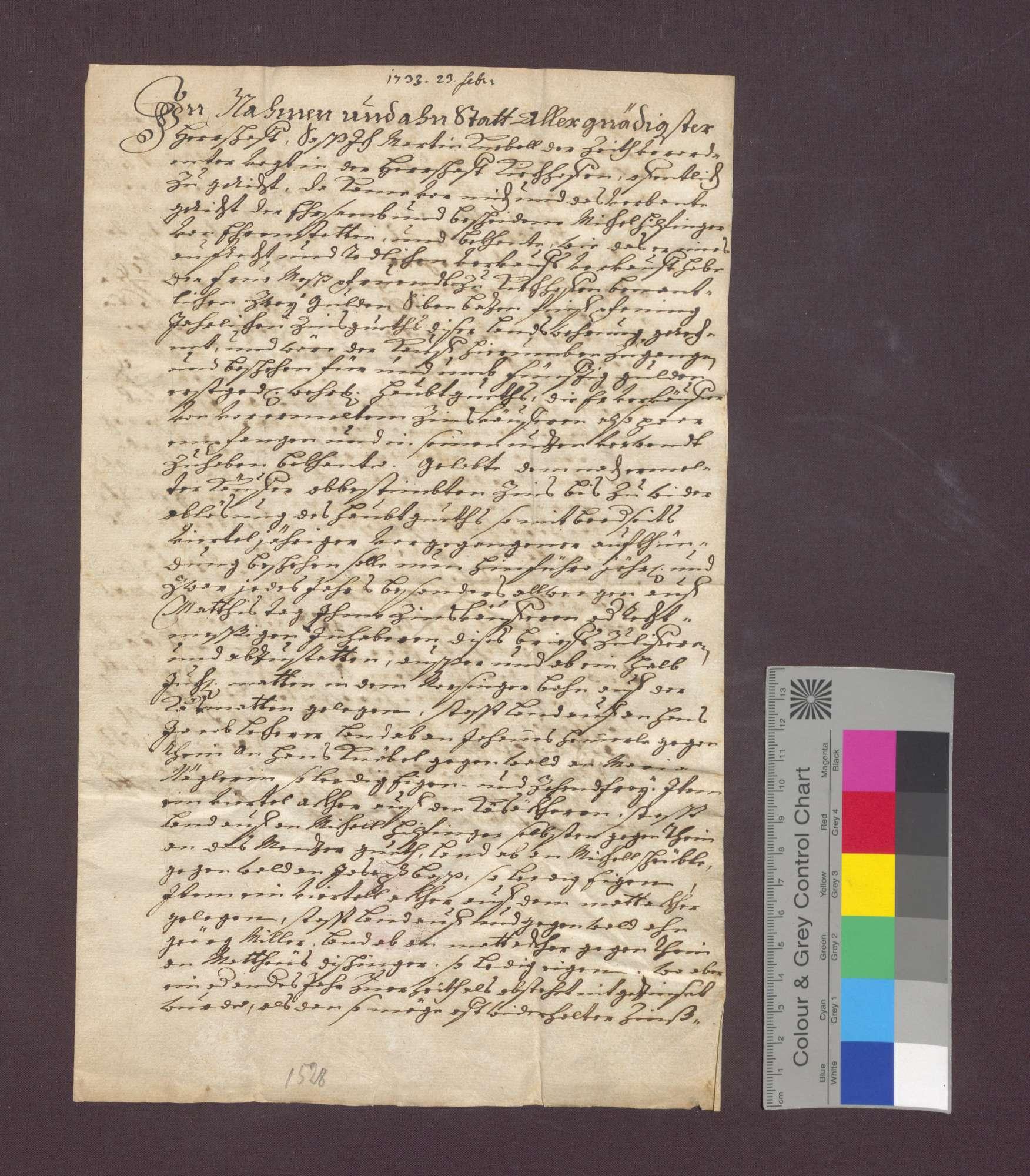 Schuldverschreibung des Michel Hilfinger von Ehrenstetten gegenüber der Frühmesse in Kirchhofen wegen Gütern in Norsinger Bann., Bild 2