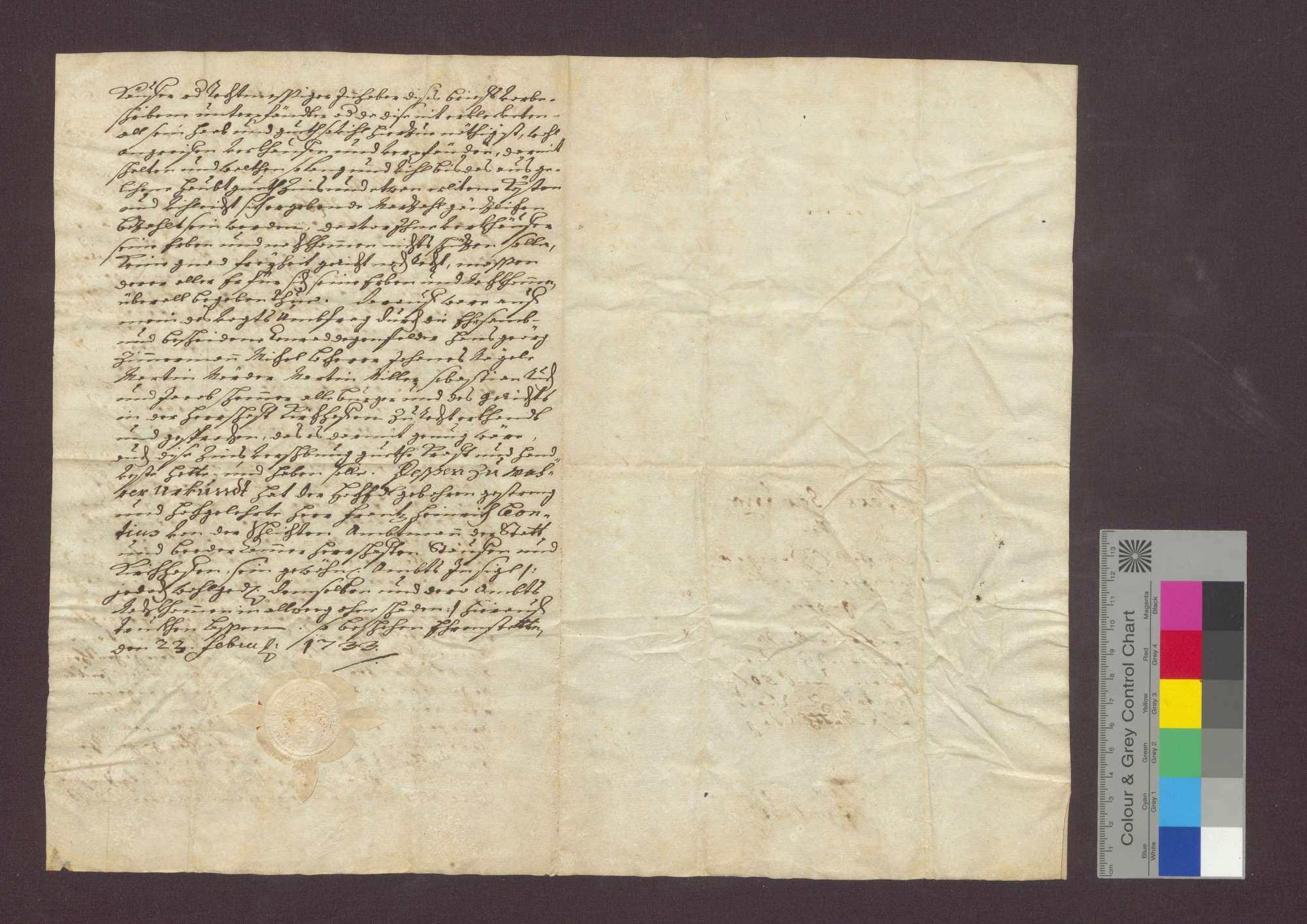 Schuldverschreibung des Michel Hilfinger von Ehrenstetten gegenüber der Frühmesse in Kirchhofen wegen Gütern in Norsinger Bann., Bild 3