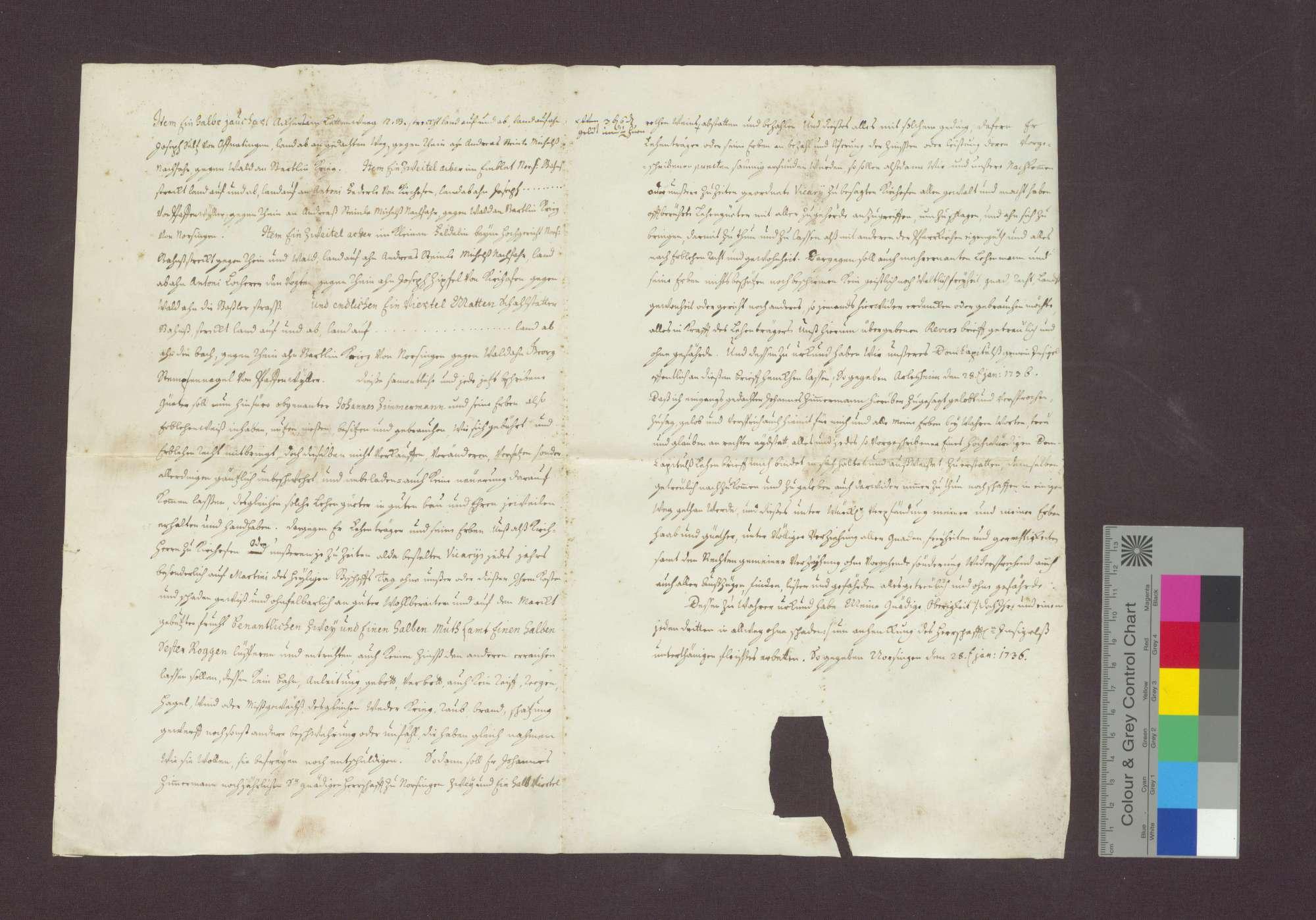 Revers des Johannes Zimmermann von Norsingen gegenüber dem Basler Domkapitel., Bild 3