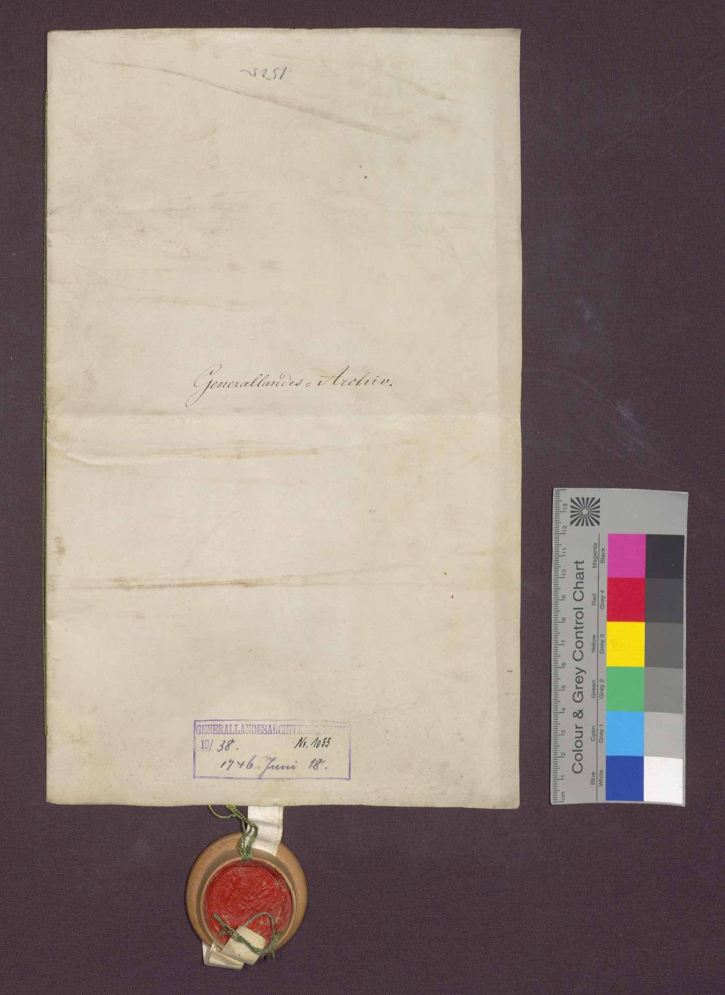 Lehnrevers des Johannes Zimmermann gegenüber dem Basler Domkapitel., Bild 1