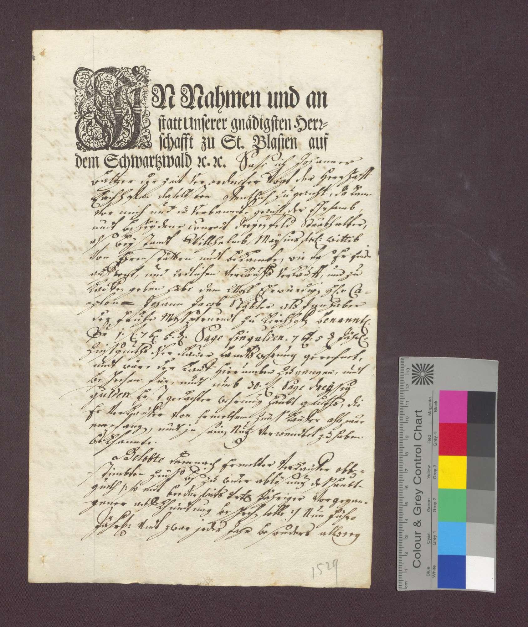 Schuldverschreibung des Konrad Degenfeld als Beistand der Witwe des Wilhelm Maysin zu Ehrenstetten gegenüber der Frühmesse wegen Gütern zu Norsingen., Bild 2