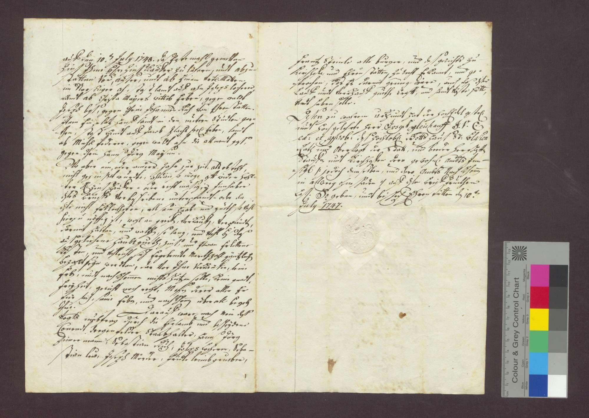 Schuldverschreibung des Konrad Degenfeld als Beistand der Witwe des Wilhelm Maysin zu Ehrenstetten gegenüber der Frühmesse wegen Gütern zu Norsingen., Bild 3