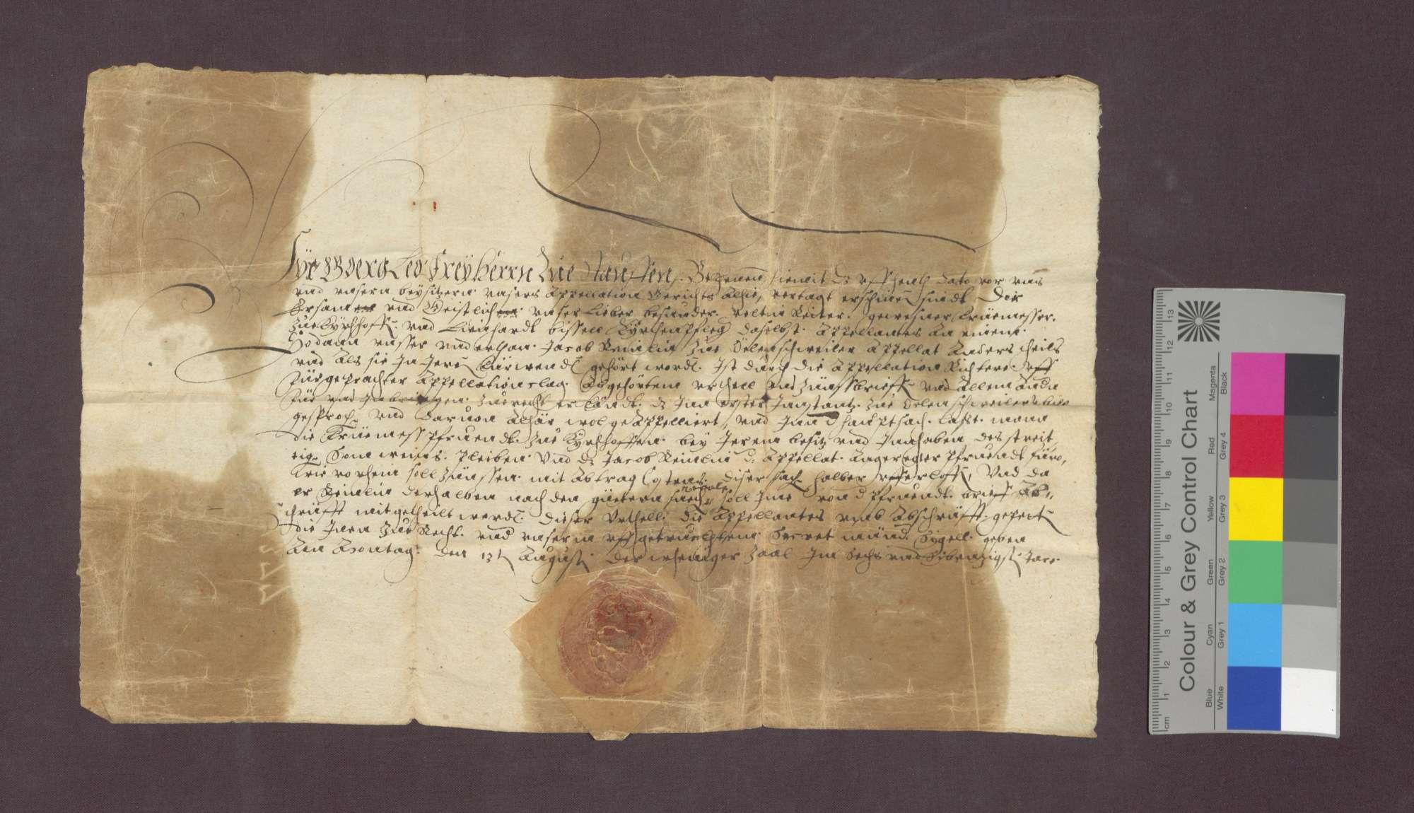Das Gericht zu Staufen spricht Jakob Reinlin von Öhlinsweiler schuldig, an die Kirchenpflege zu Kirchhofen eine jährliche Gült zu zahlen., Bild 2