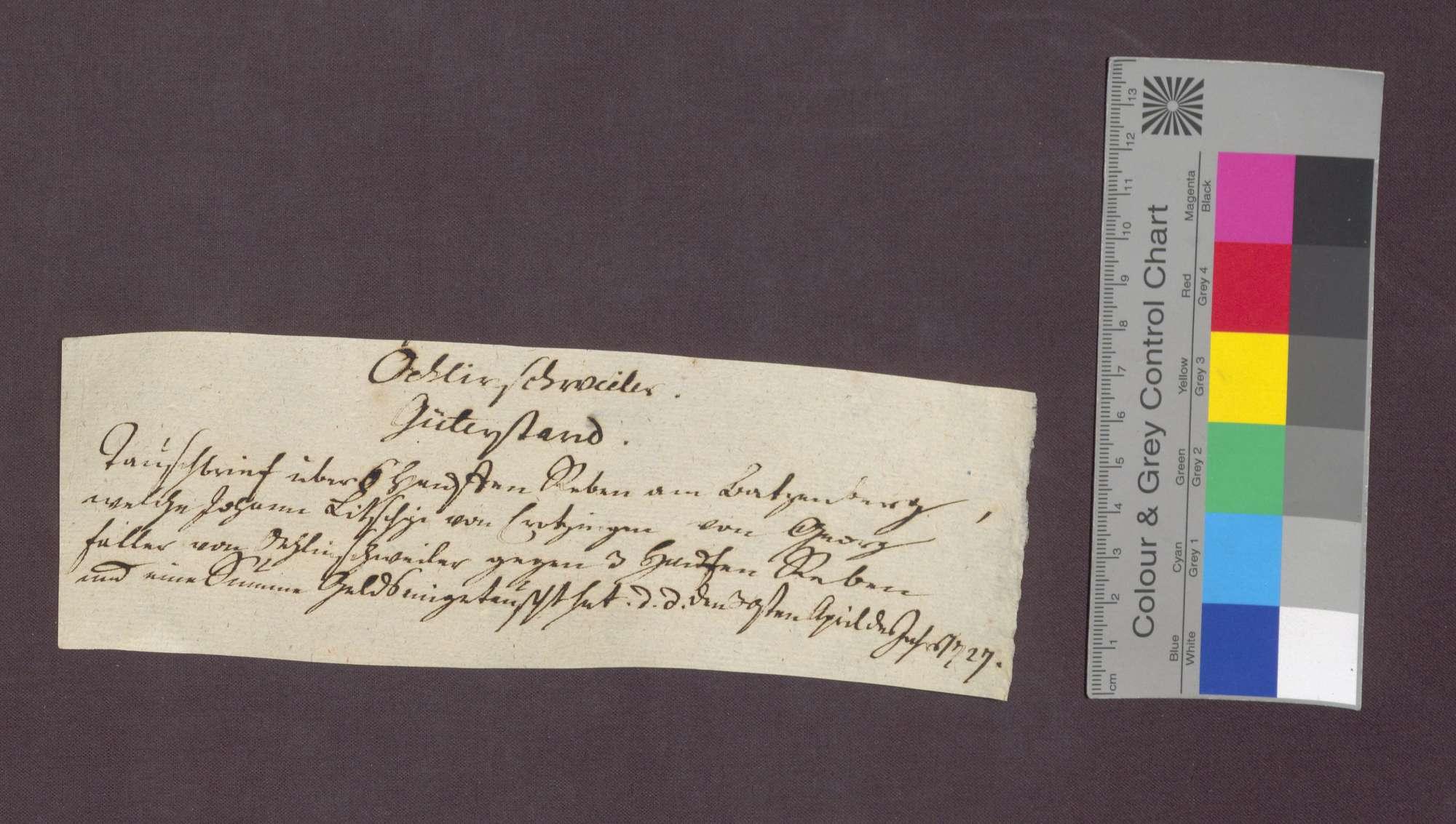 Gütertausch zwischen Jörg Faller von Öhlinsweiler und Johann Litschgi von Krozingen., Bild 1