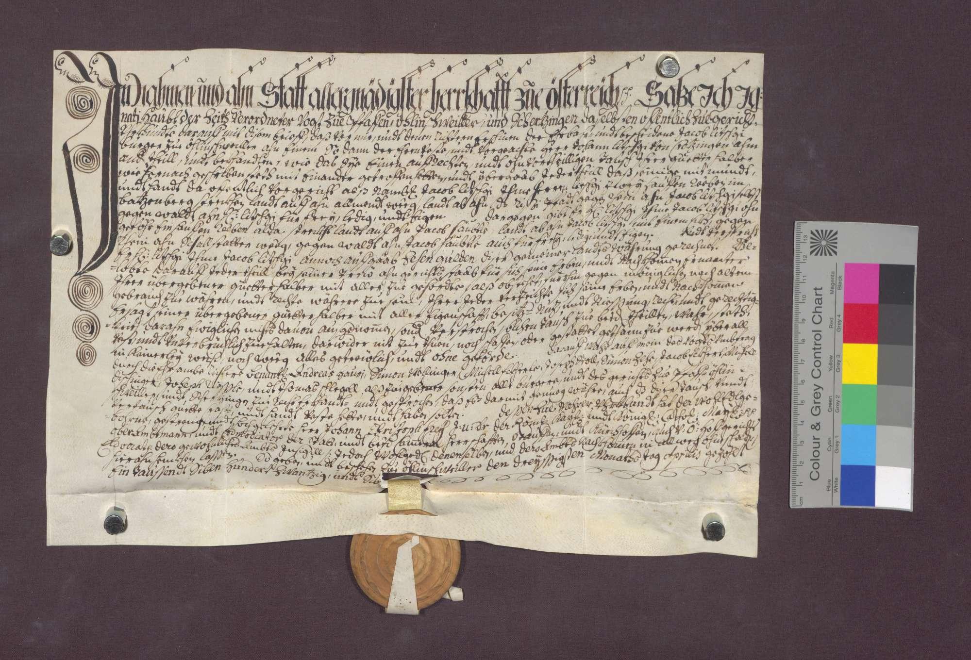 Jakob Litschgi zu Öhlinsweiler und Johann Litschgi von Krozingen tauschen Reben am Betzenberg., Bild 2