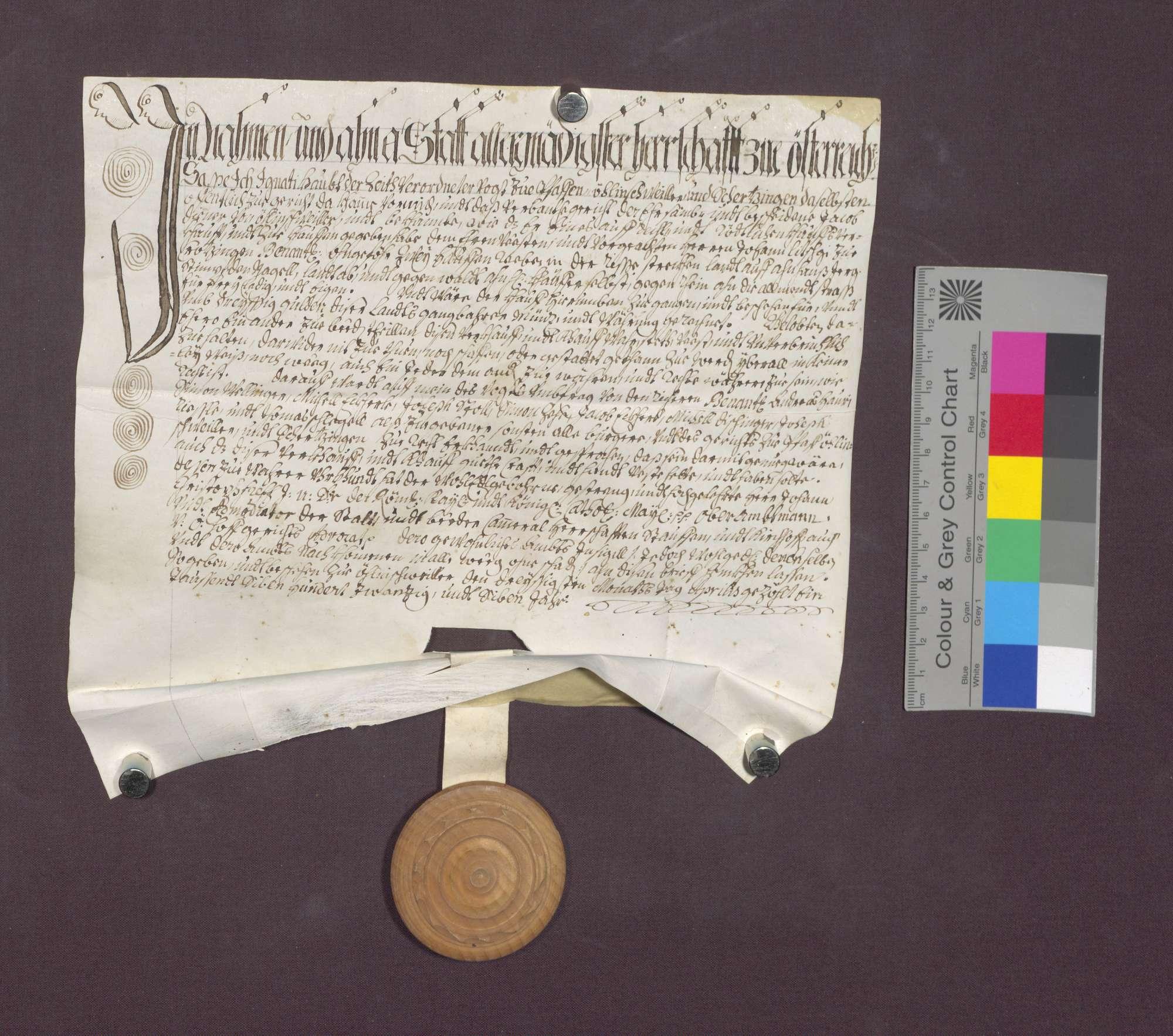Jakob Diener von Öhlinsweiler verkauft Reben an Johann Litschgi von Krozingen., Bild 2