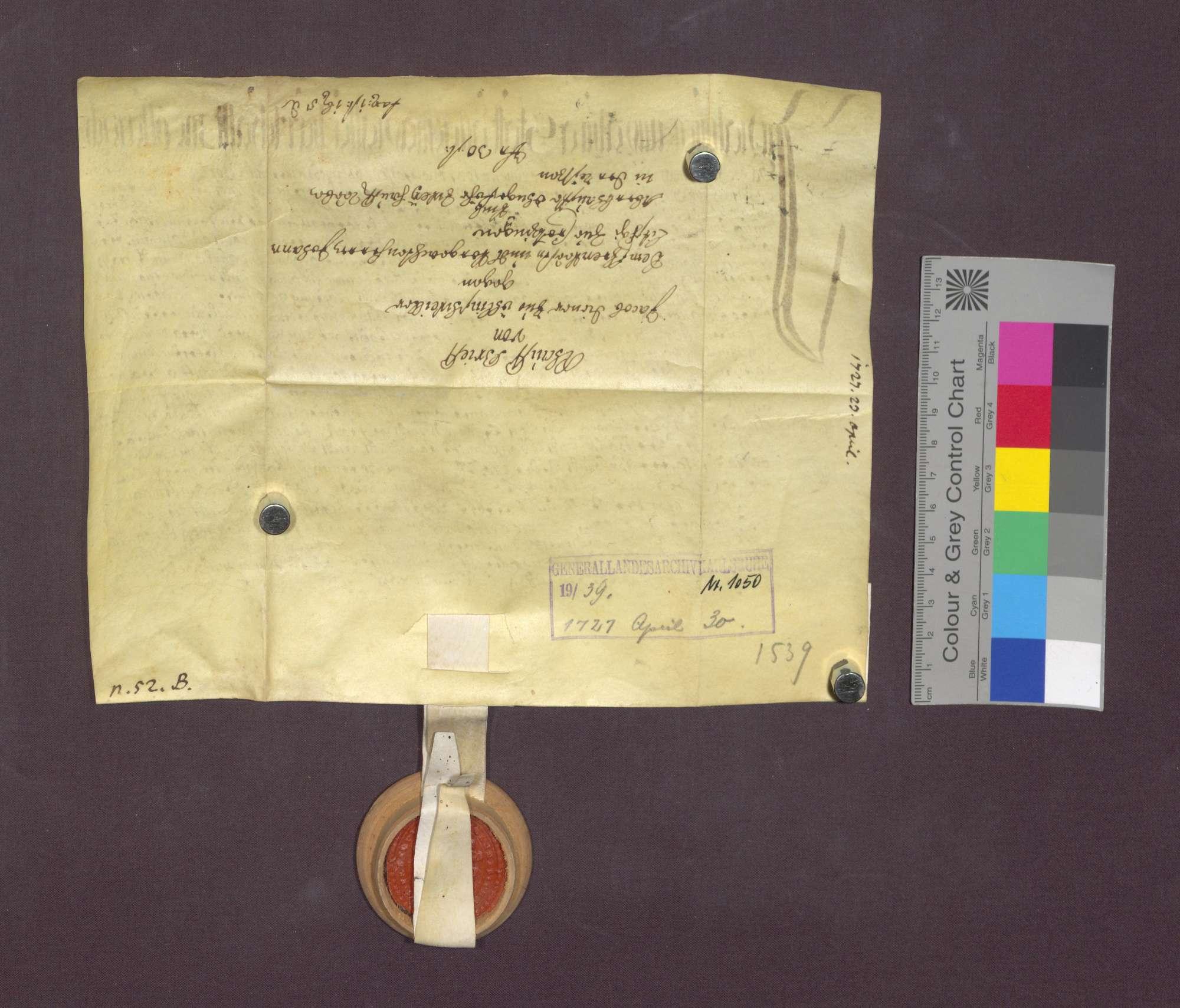 Jakob Diener von Öhlinsweiler verkauft Reben an Johann Litschgi von Krozingen., Bild 3