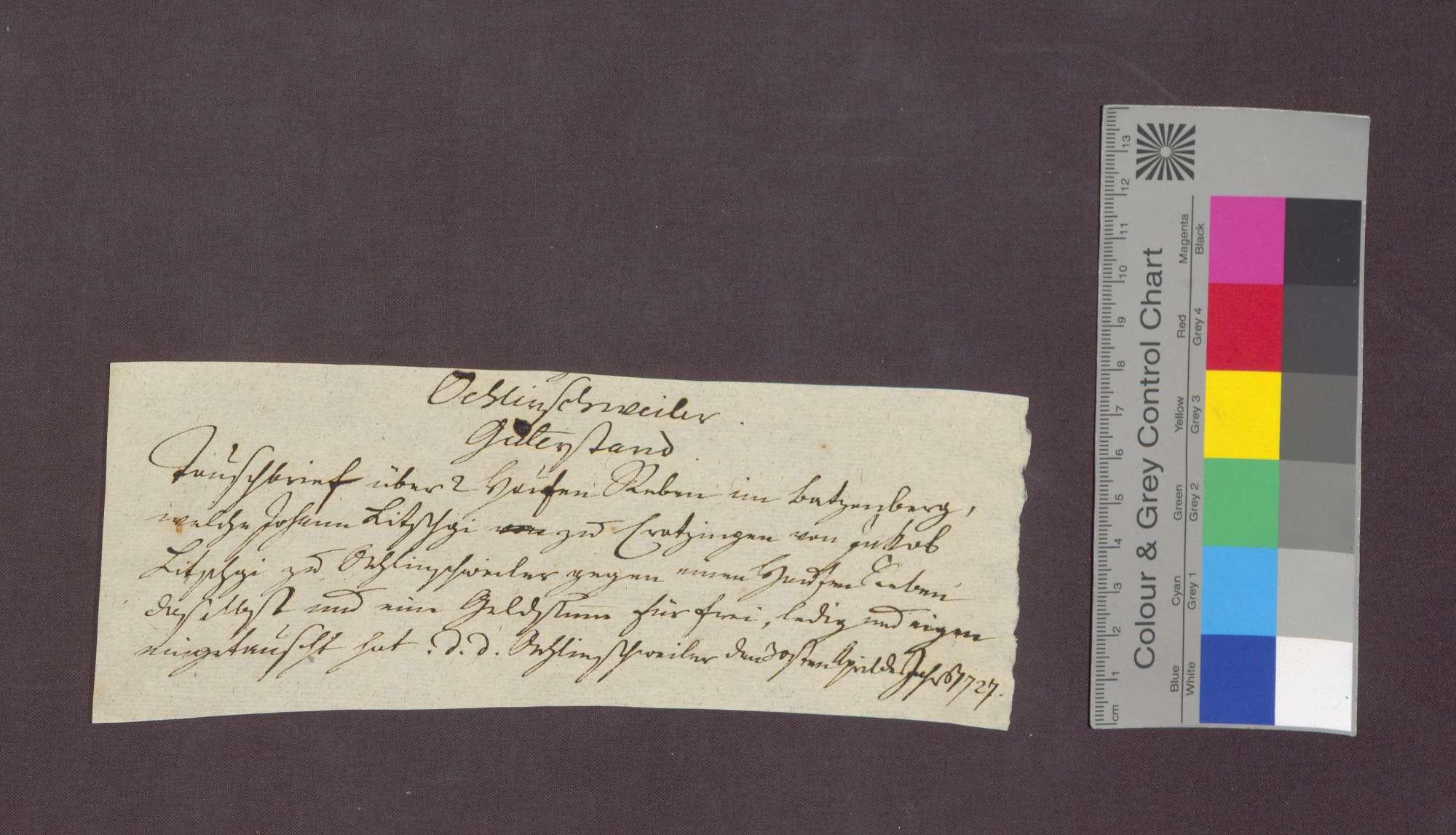 Johann Litschgi von Krozingen und Jakob Litschgi von Öhlinsweiler tauschen Reben am Batzenberg., Bild 1