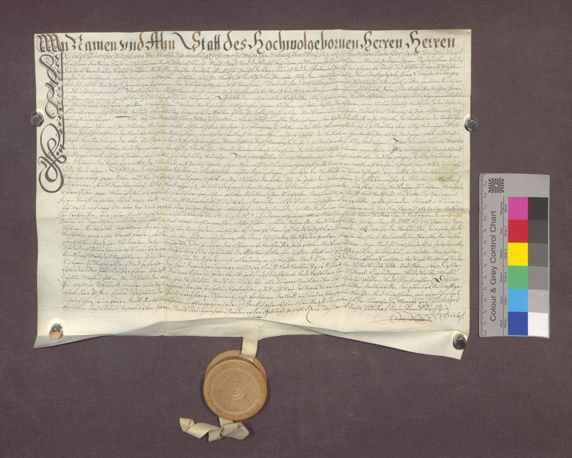 Schuldverschreibung des Hans Däschlin zu Pfaffenweiler gegenüber der Frühmesse zu Kirchhofen., Bild 1