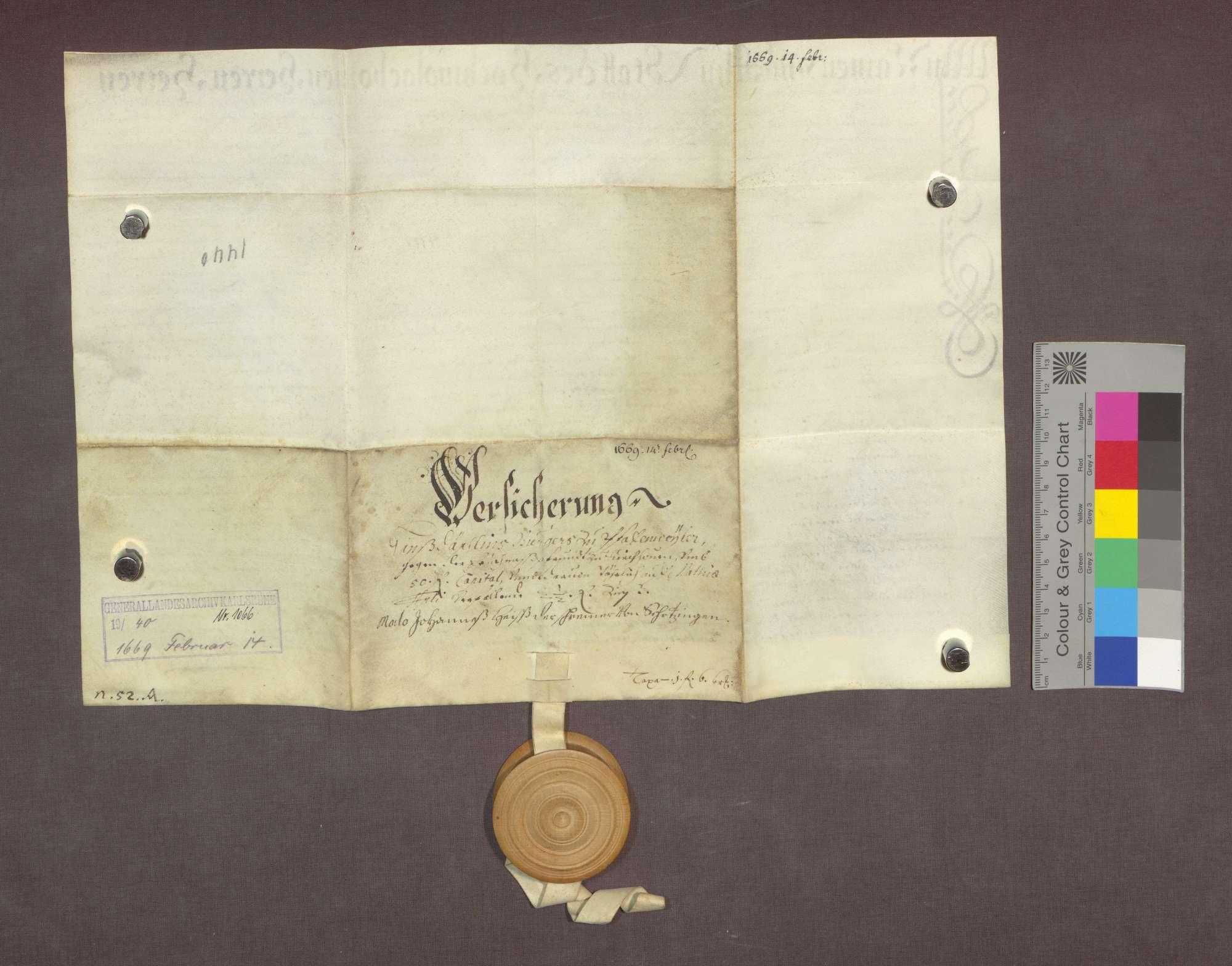 Schuldverschreibung des Hans Däschlin zu Pfaffenweiler gegenüber der Frühmesse zu Kirchhofen., Bild 2
