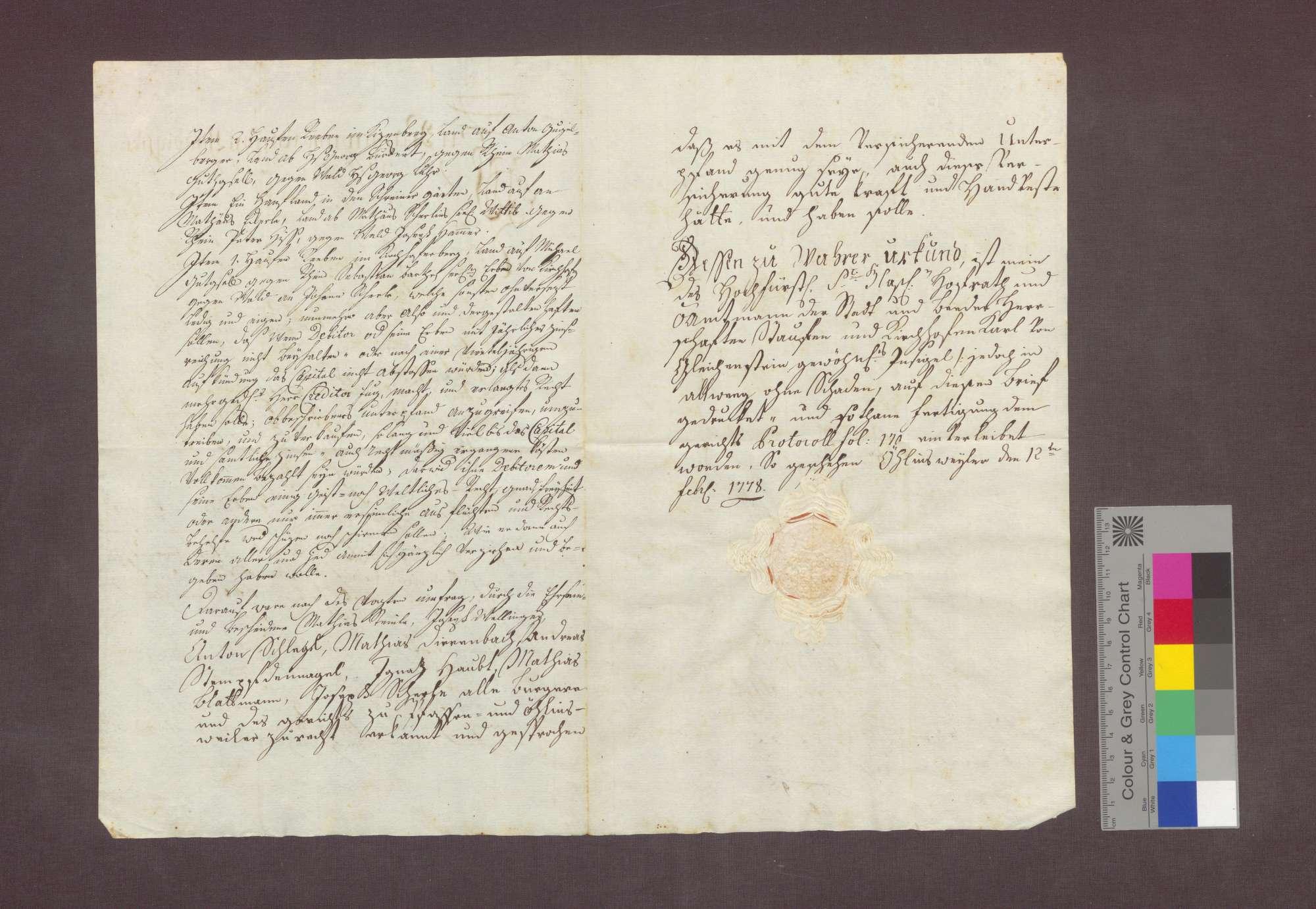 Schuldverschreibung des Johannes Stempfdennagel von Pfaffenweiler gegenüber Anton von Litschgi in Krozingen., Bild 2