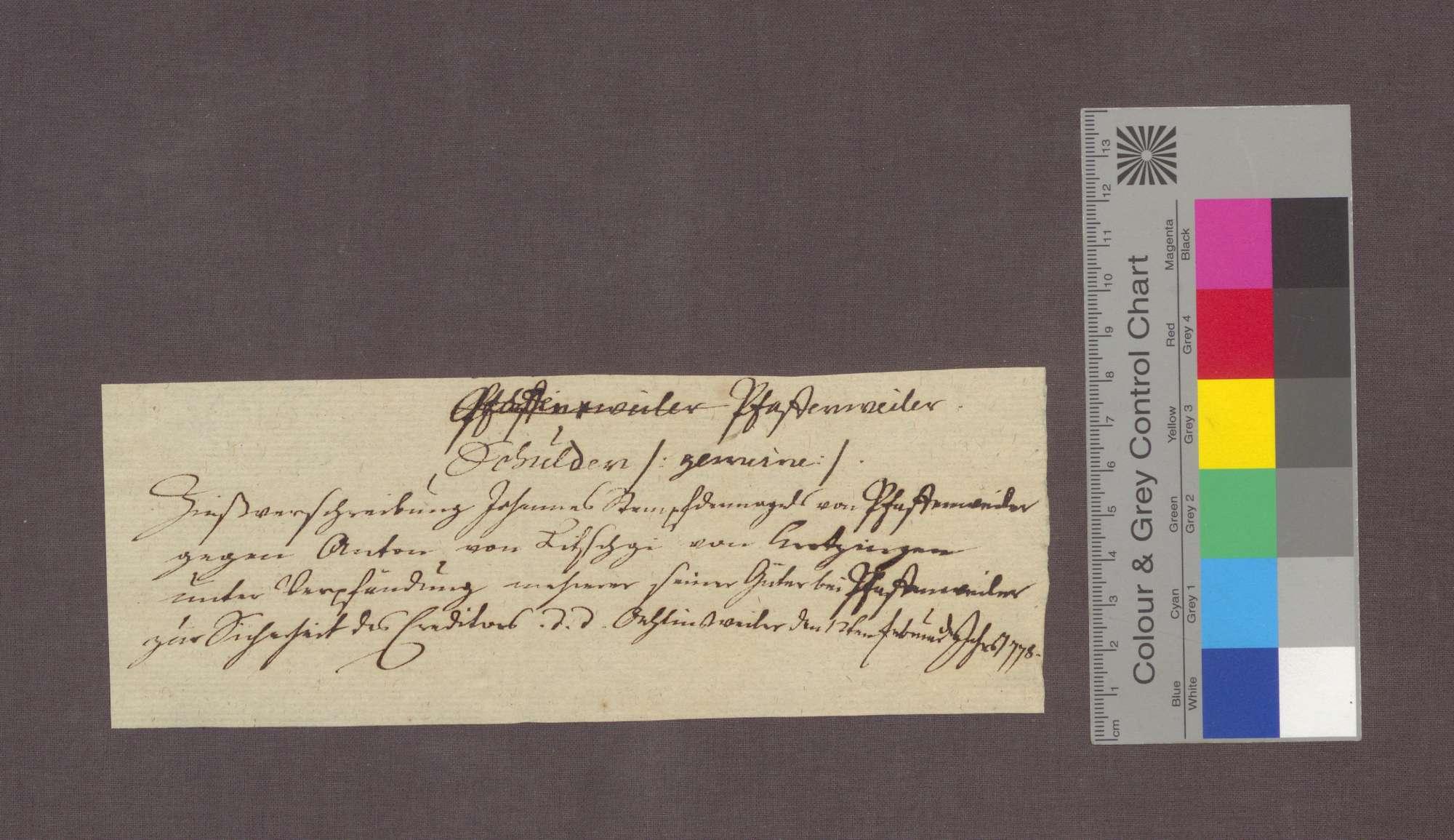 Schuldverschreibung des Johannes Stempfdennagel von Pfaffenweiler gegenüber Anton von Litschgi in Krozingen., Bild 3