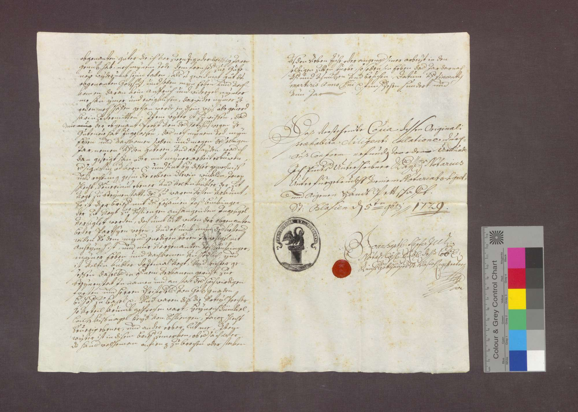 Hans Welchemann zu Steinenstadt bekennt, das Kloster Gutnau habe ihm Güter, die er seint langem genutzt hat und die Eigentum des Klosters sind, zu lebenslanger Nutznießung überlassen., Bild 2