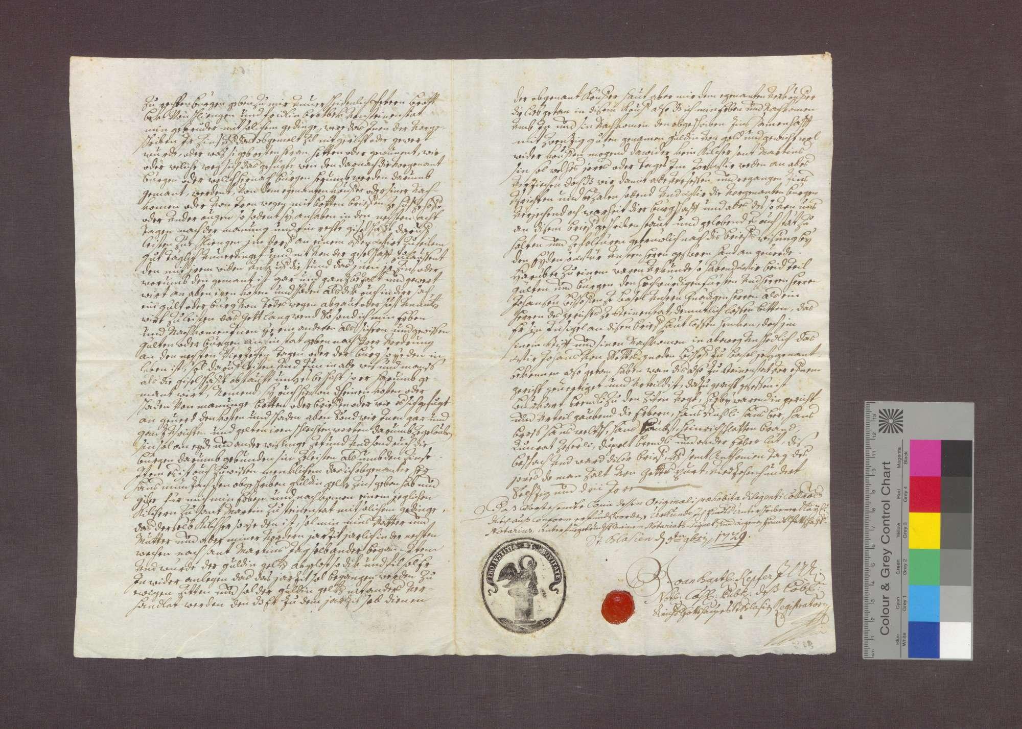 Gültverschreibung des Bantli Brodbeck zu Steinenstadt gegenüber dem Basler Kaplan Johannes Munzach., Bild 2