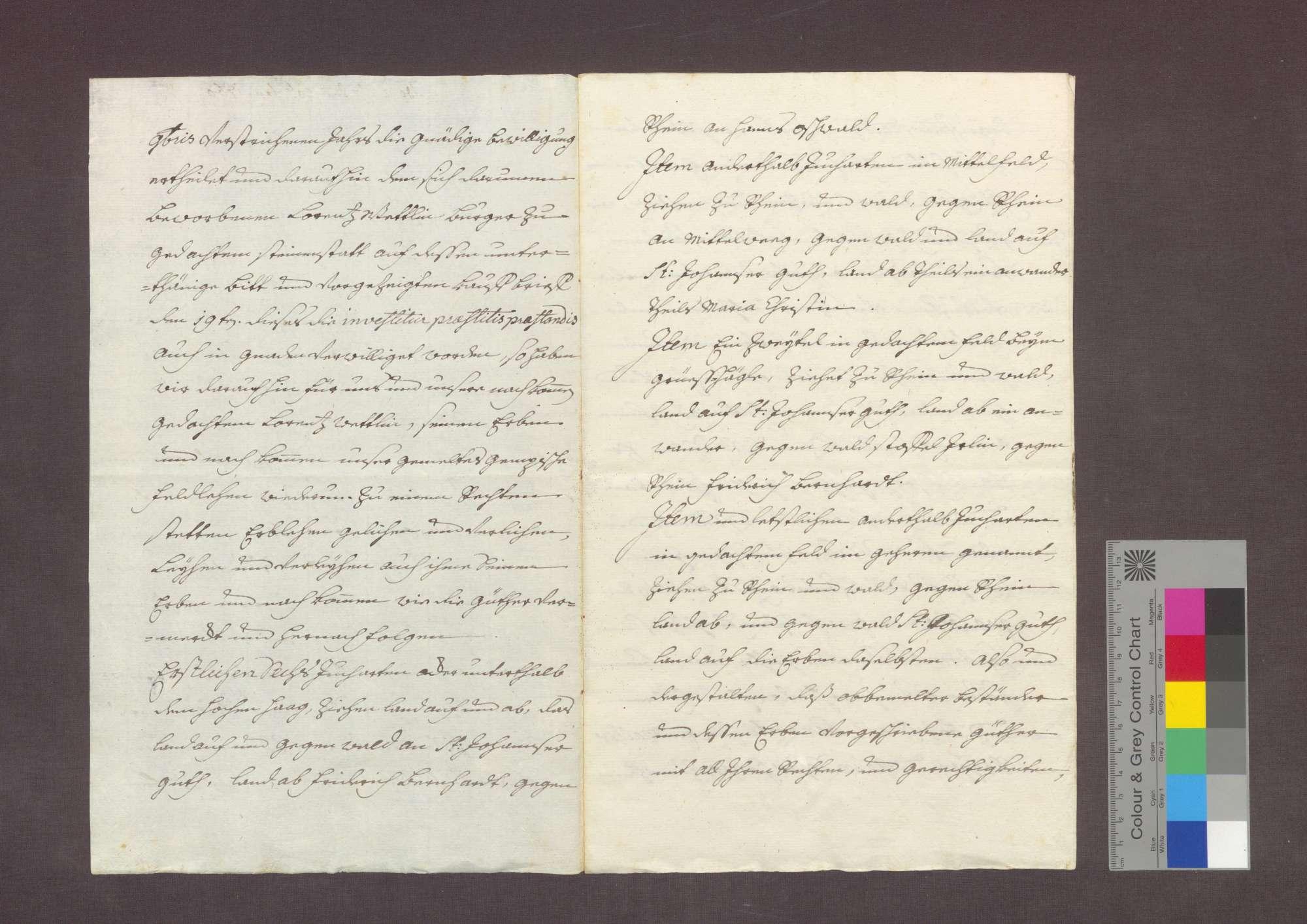 Lehnrevers des Lorenz Wettlin zu Steinenstadt gegenüber dem Basler Domkapitel., Bild 2