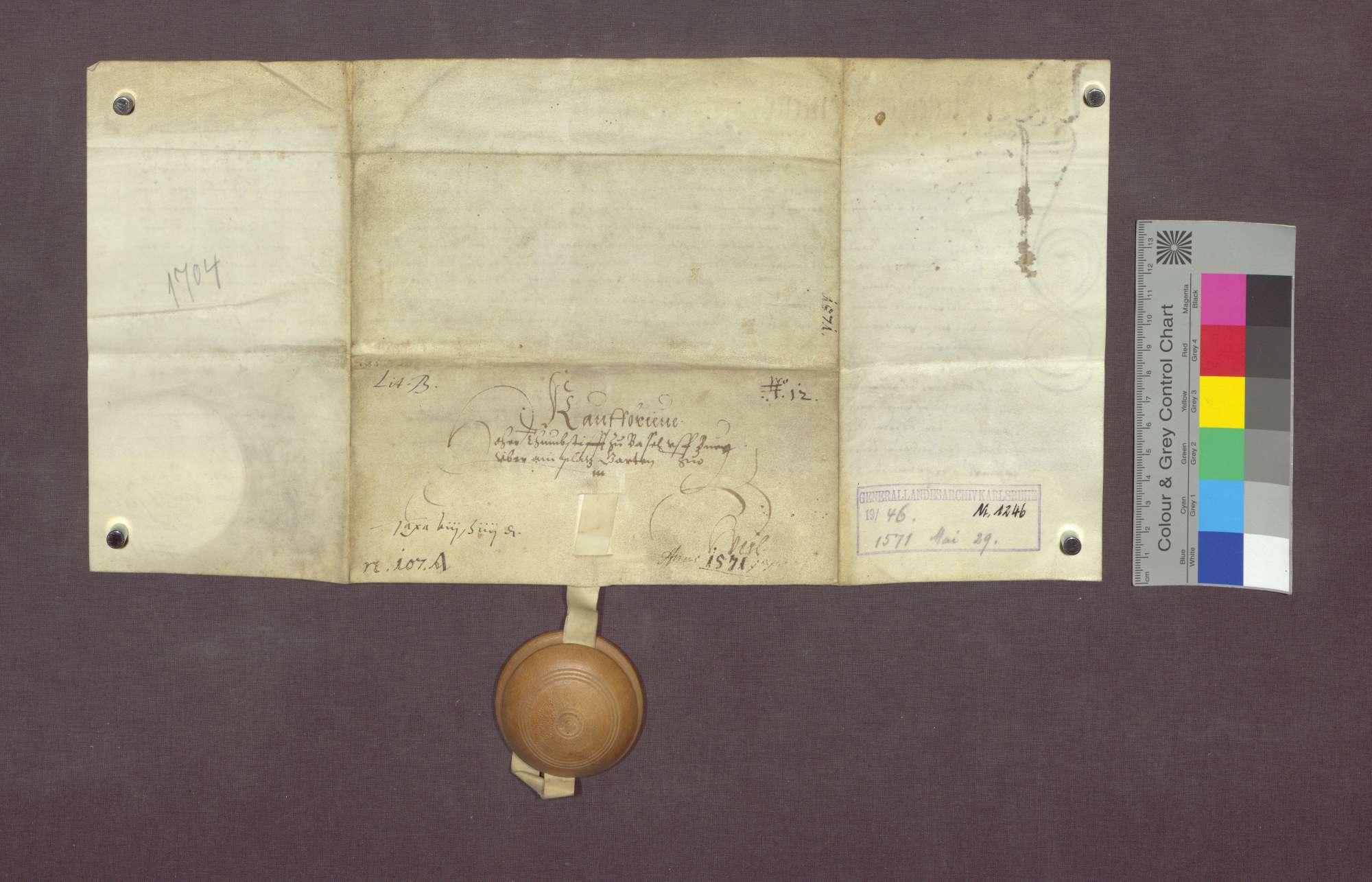 Fridle Bäselin, Laux Neff und Hans Kappeler zu Weil verkaufen an das Basler Domstift ein Gartenstück., Bild 2
