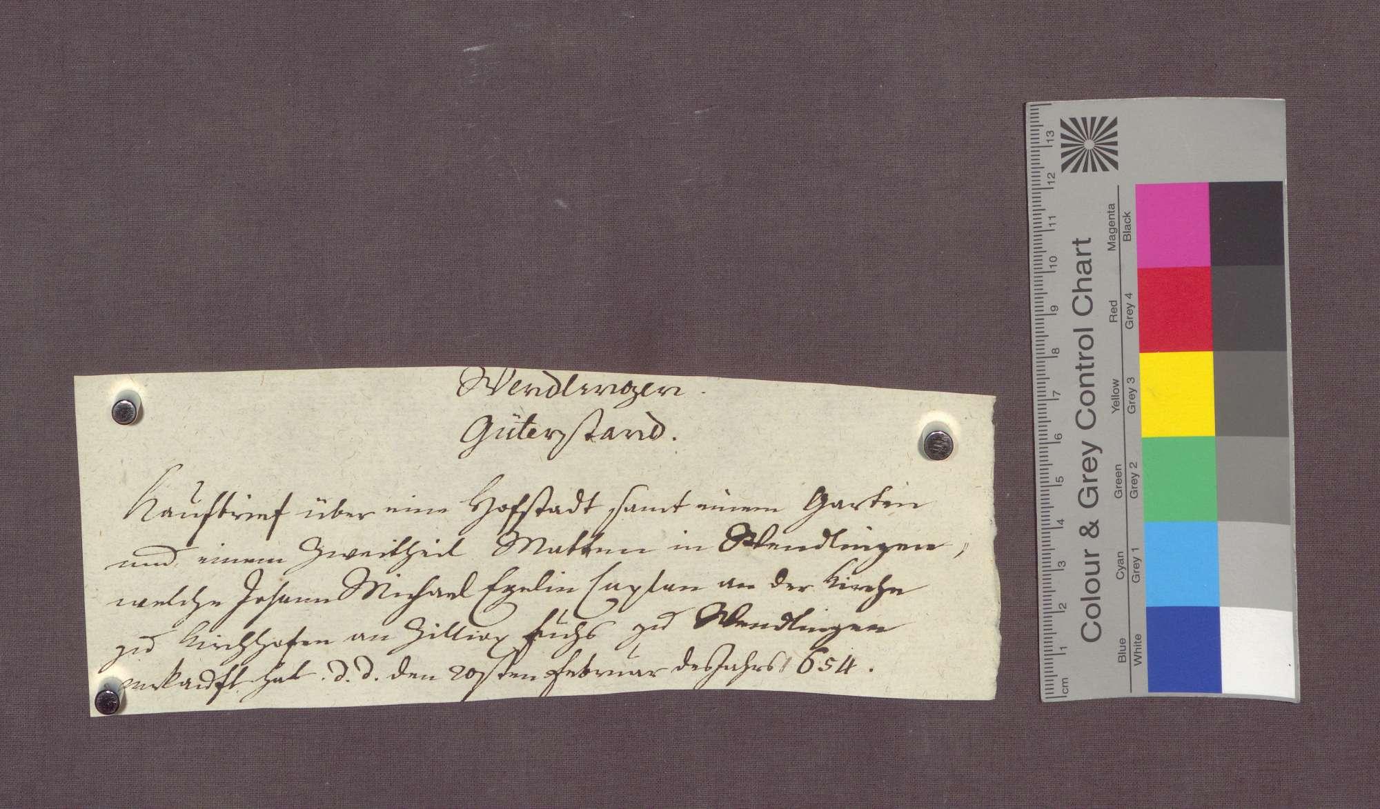 Johann Michel Egelin, Kaplan der St. Nikolaus-Pfründe in Kirchhofen, verkauft eine abgebrannte Hofstatt zu Wendlingen an Hans Heinrich Fischer., Bild 3