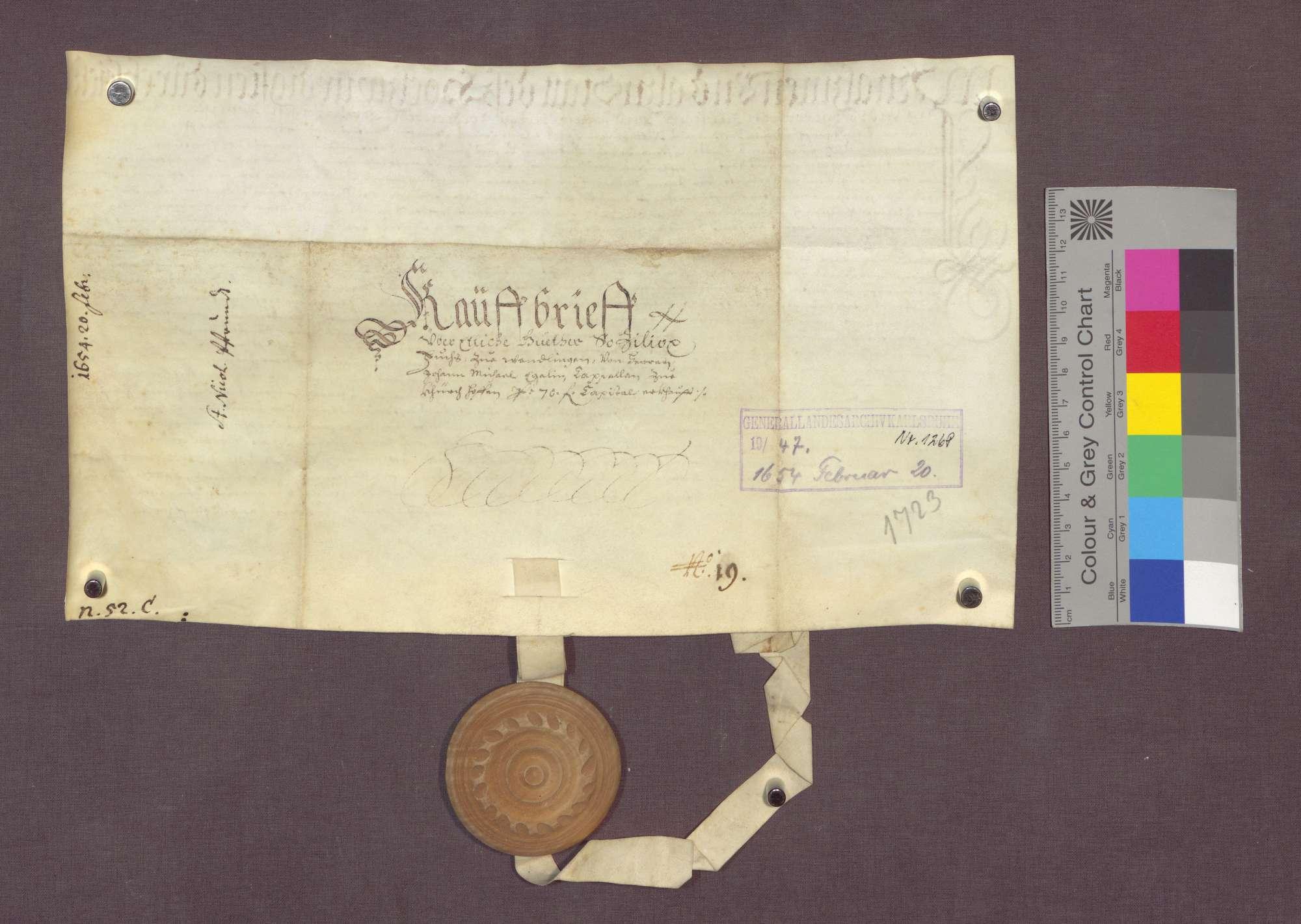Johann Michael Egelin, Kaplan der St. Nikolaus-Pfründe in Kirchhofen verkauft an Zillioz Fuchs zu Wendlingen eine abgebrannte Hofstatt., Bild 2