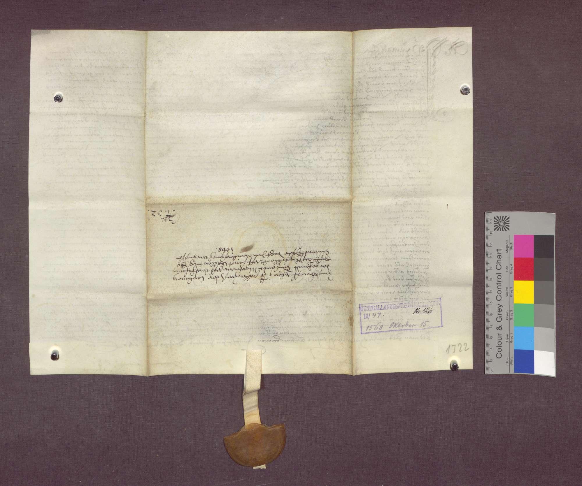 Gültverschreibung des Konrad Tiser zu Weilersbach gegenüber der 10.000 Märtyrer-Pfründe am Basler Domstift., Bild 2