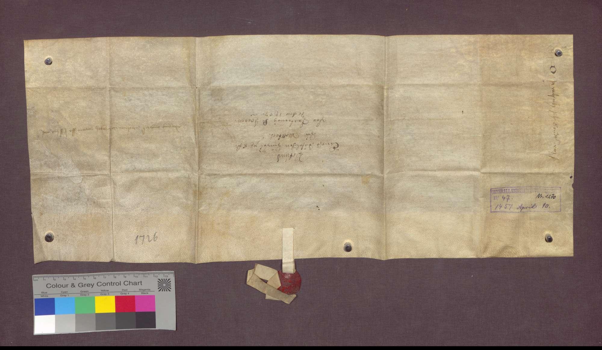 Lehnbrief der Basler St. Johannes-Bruderschaft auf Burg für Johannes Bruder zu Wollbach., Bild 2