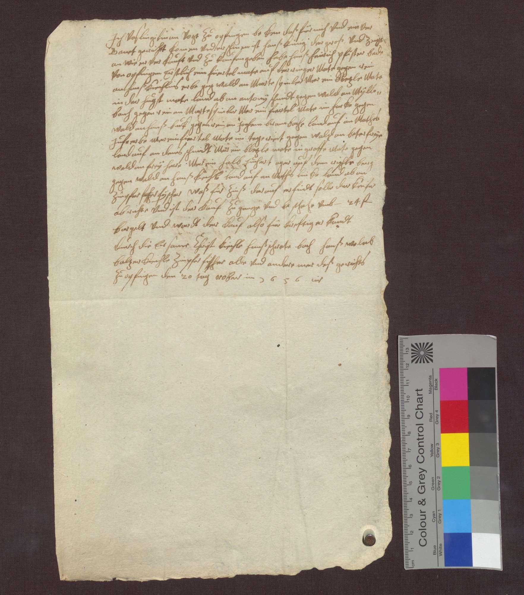 Kaufbrief des Hans Künig von Opfingen für Hans Heinrich Pfister von ...