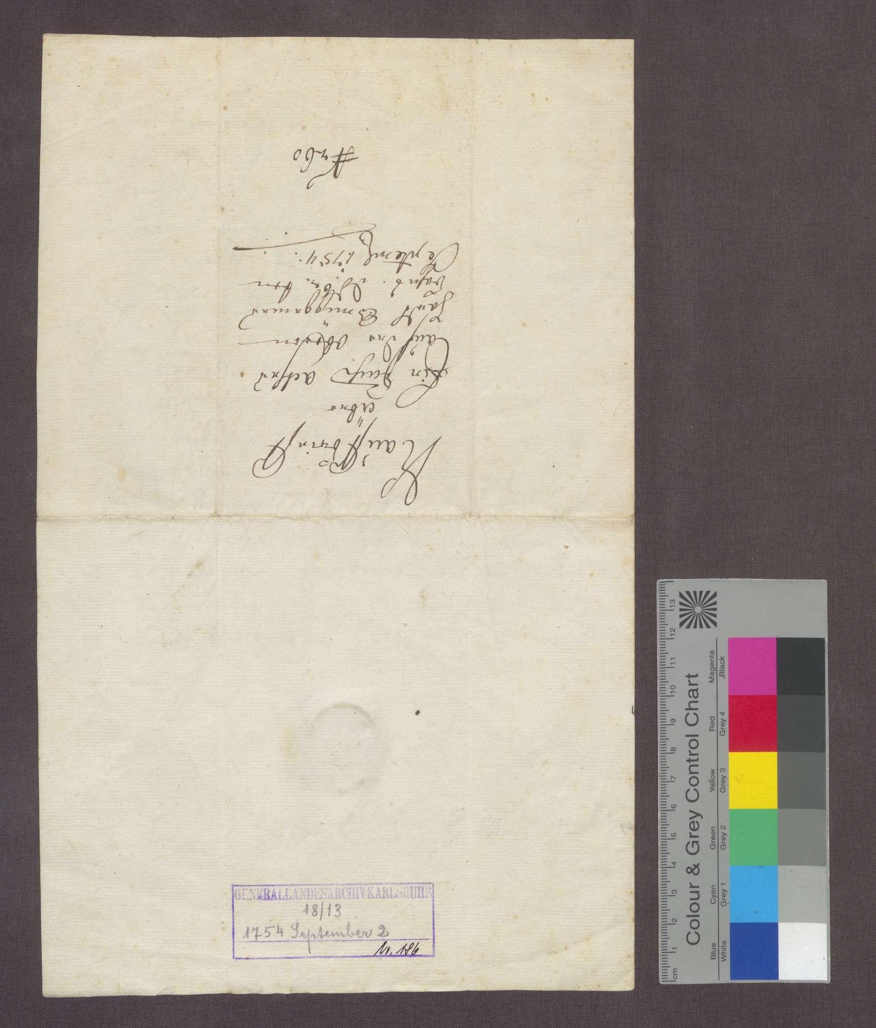 Joseph Benz von Nollingen verkauft der Deutsch-Ordens-Kommende Beuggen 1 Jauchert Acker auf der oberen Hardt um 70 Pfund., Bild 3