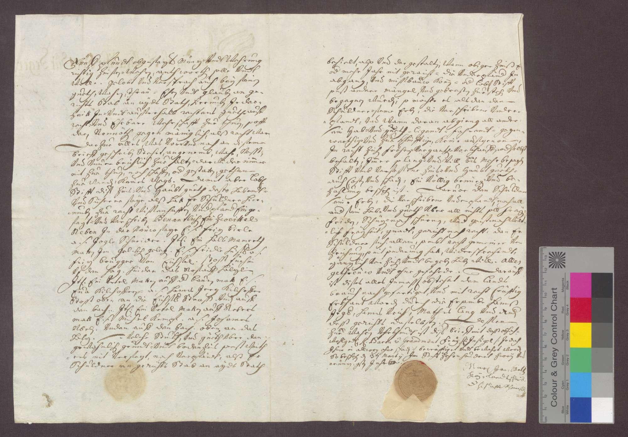 Michael Fuchs, Bürger und Maurer zu Degenfelden, verschreibt sich gegenüber dem St. Martins-Stift zu Rheinfelden wegen 100 Gulden., Bild 2